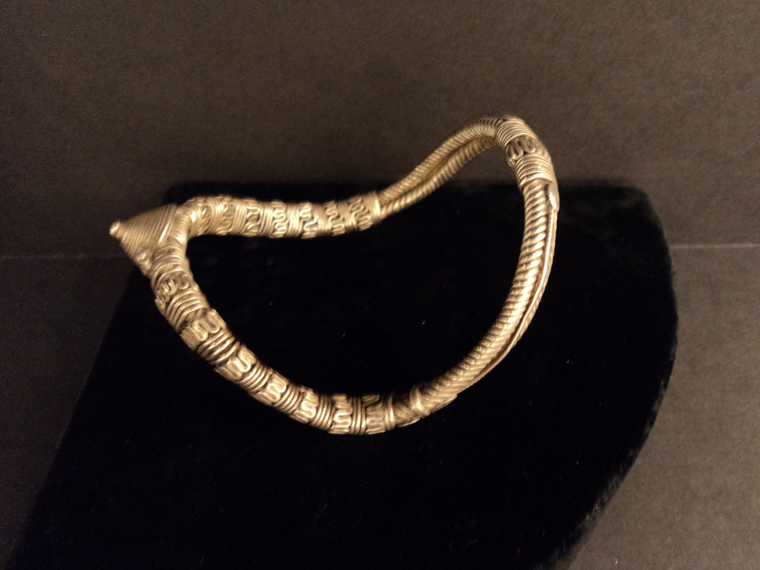 Antique Old Silver Bajuband Armlet