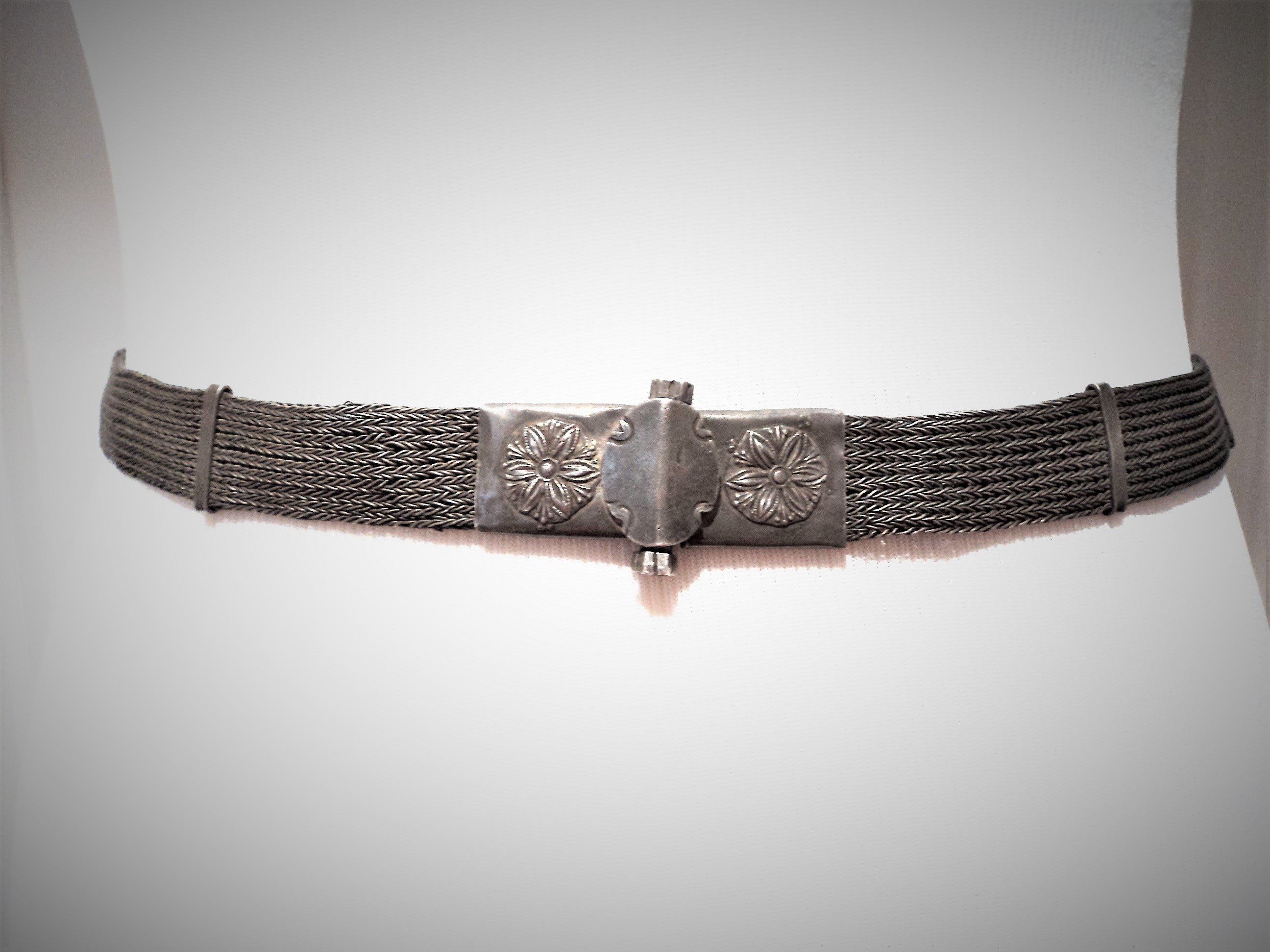 Antique Old Silver Rajasthan India Belt