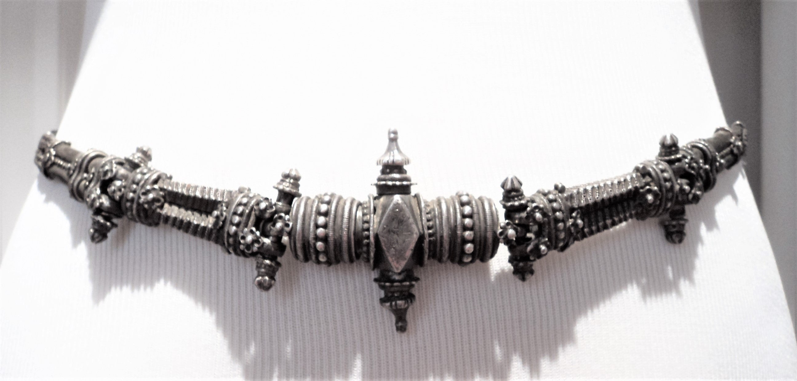 Antique Old Silver Kamarpatti Maharashtra India Belt