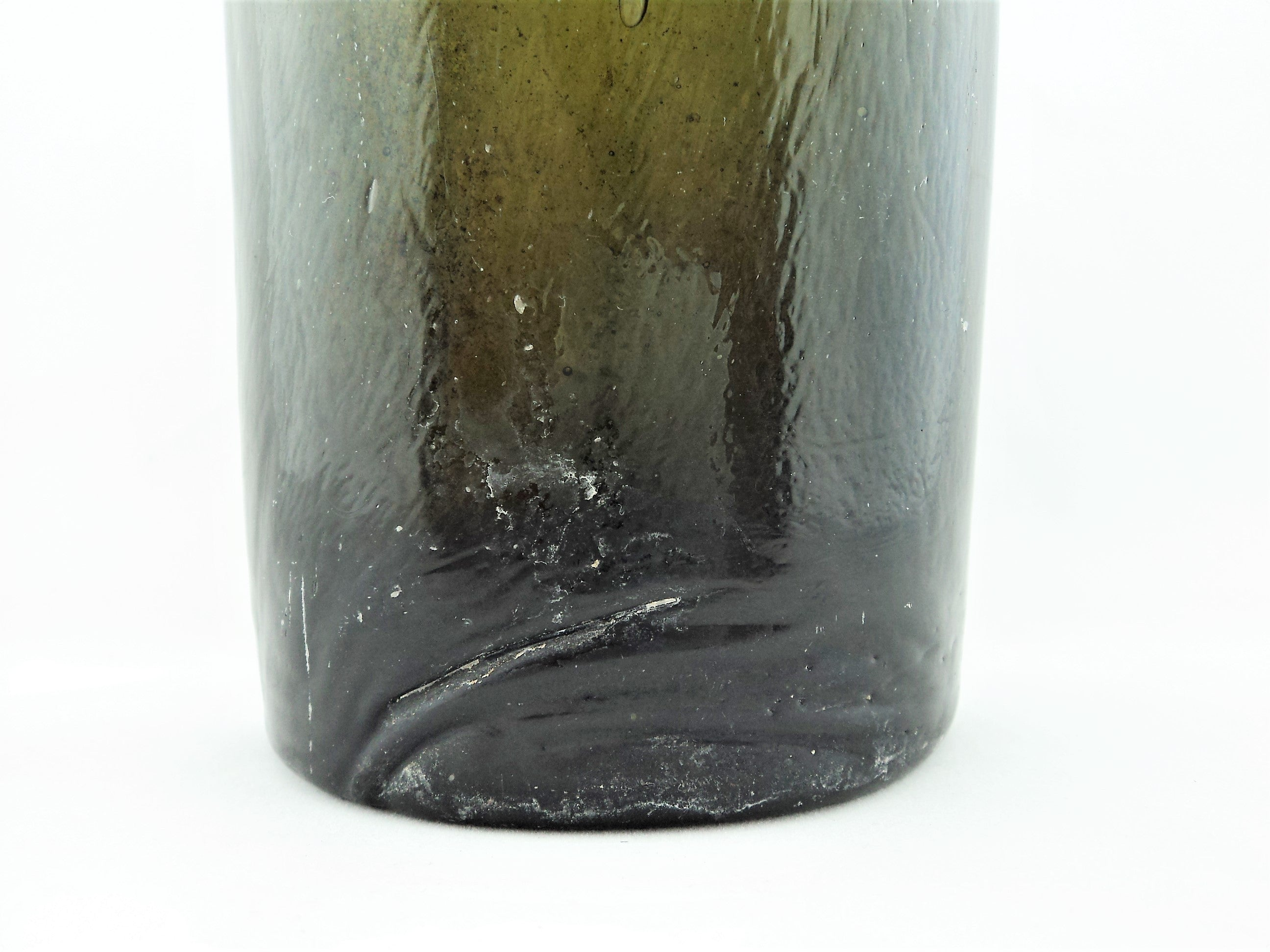 Antique Olive Green French Wine Bottle
