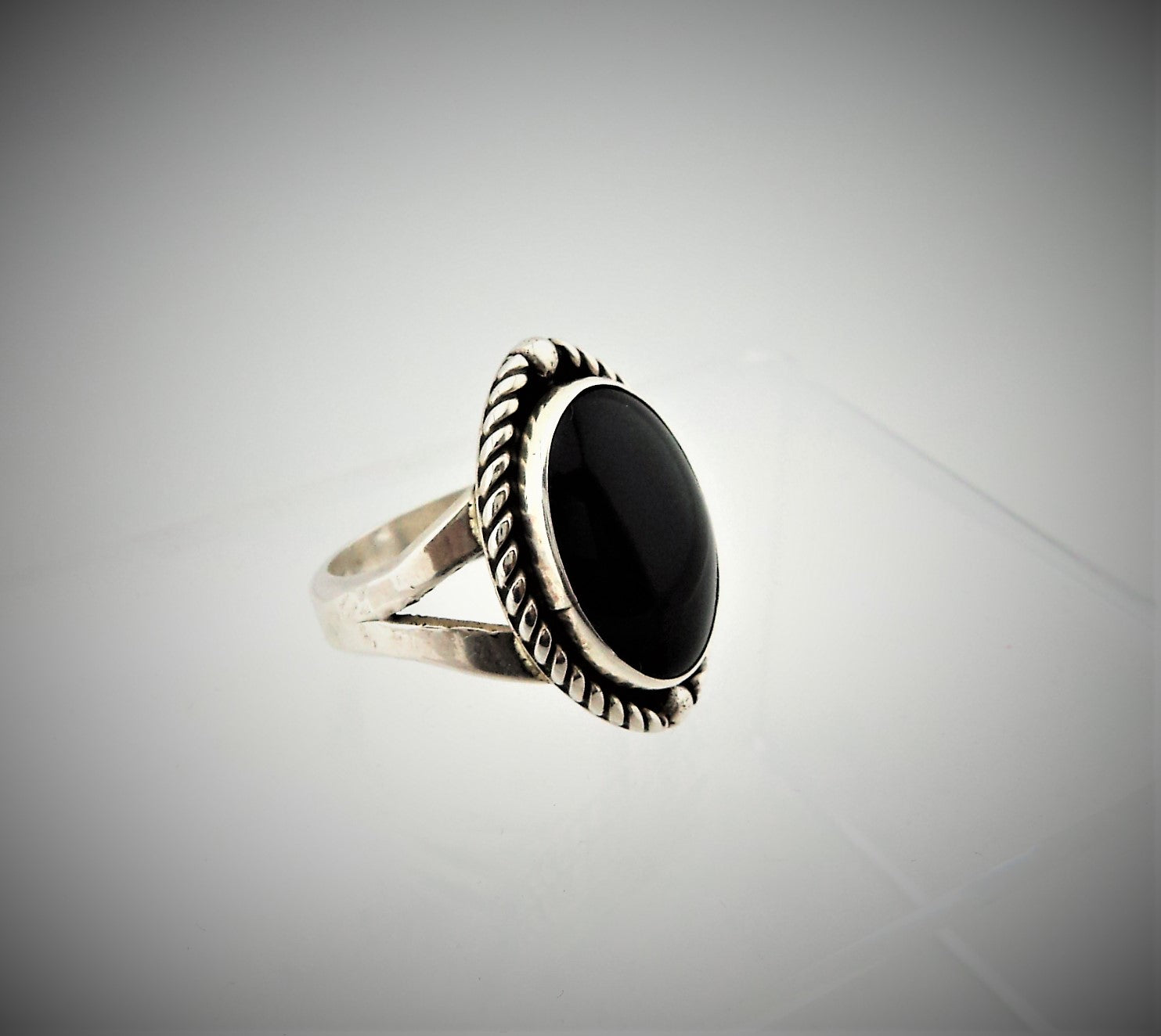 Navajo Sterling Silver and Black Onyx Ring