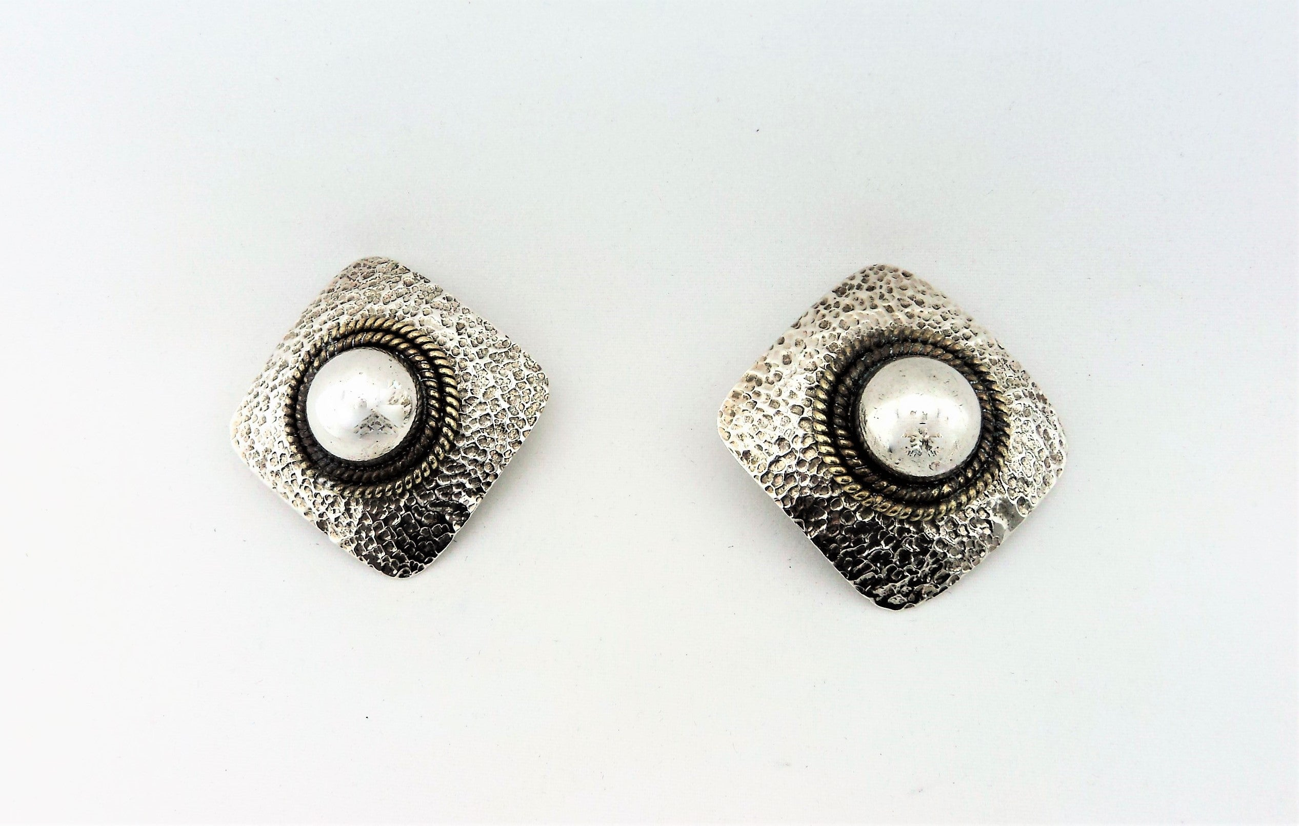 Vintage Mexico Sterling Silver Earrings