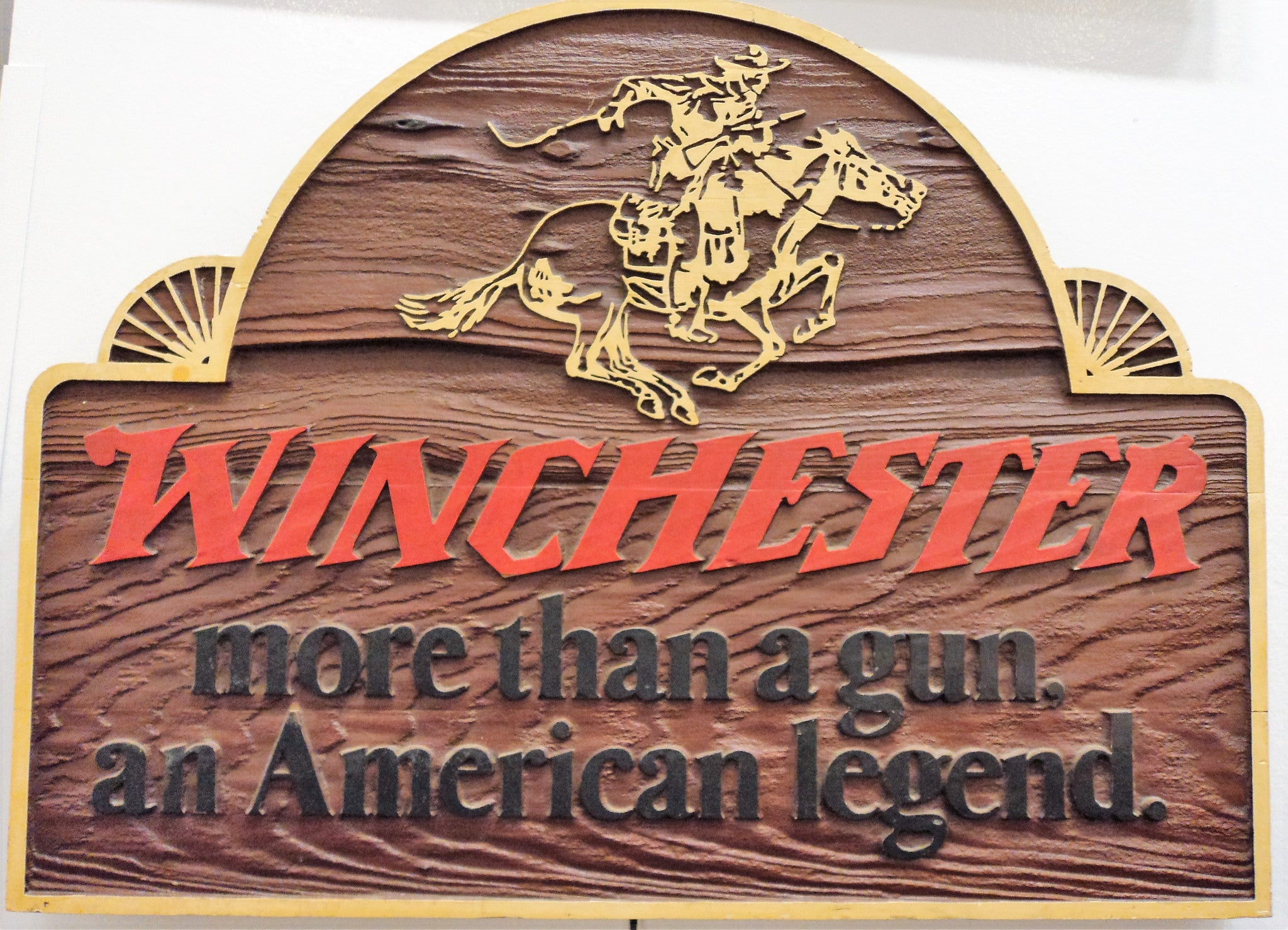 Winchester Wood Carved Store Sign