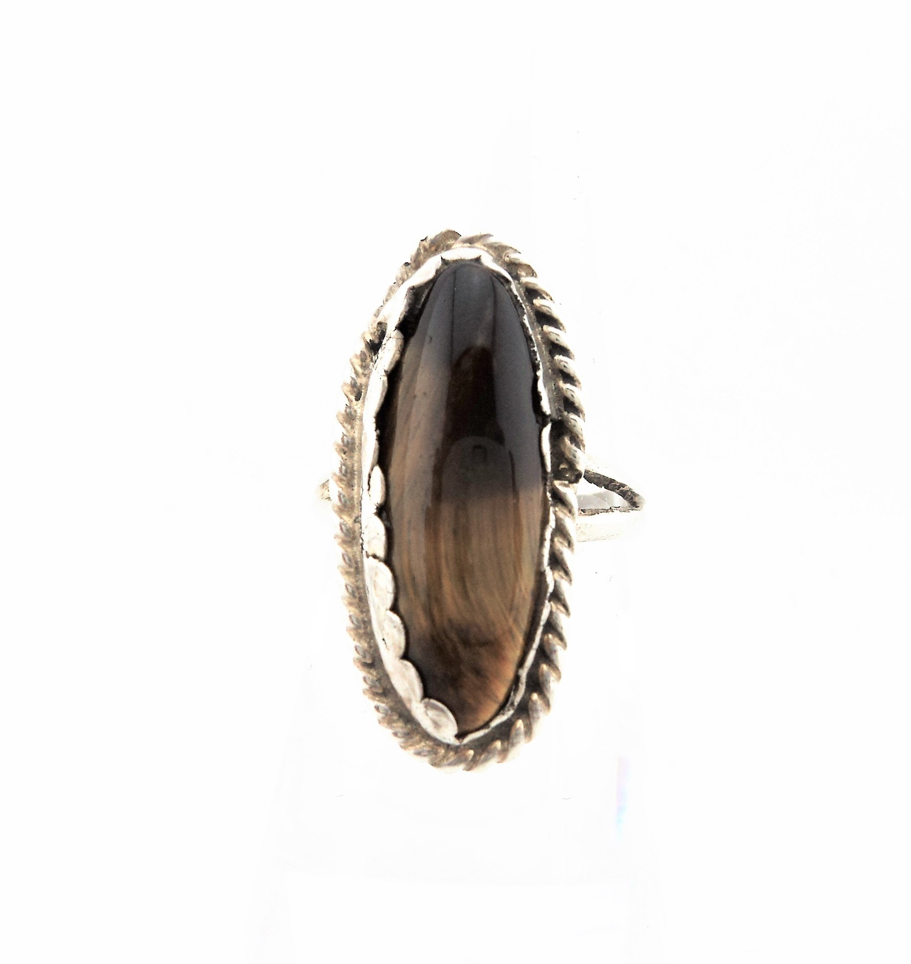 Vintage silver and Tiger Eye Ring