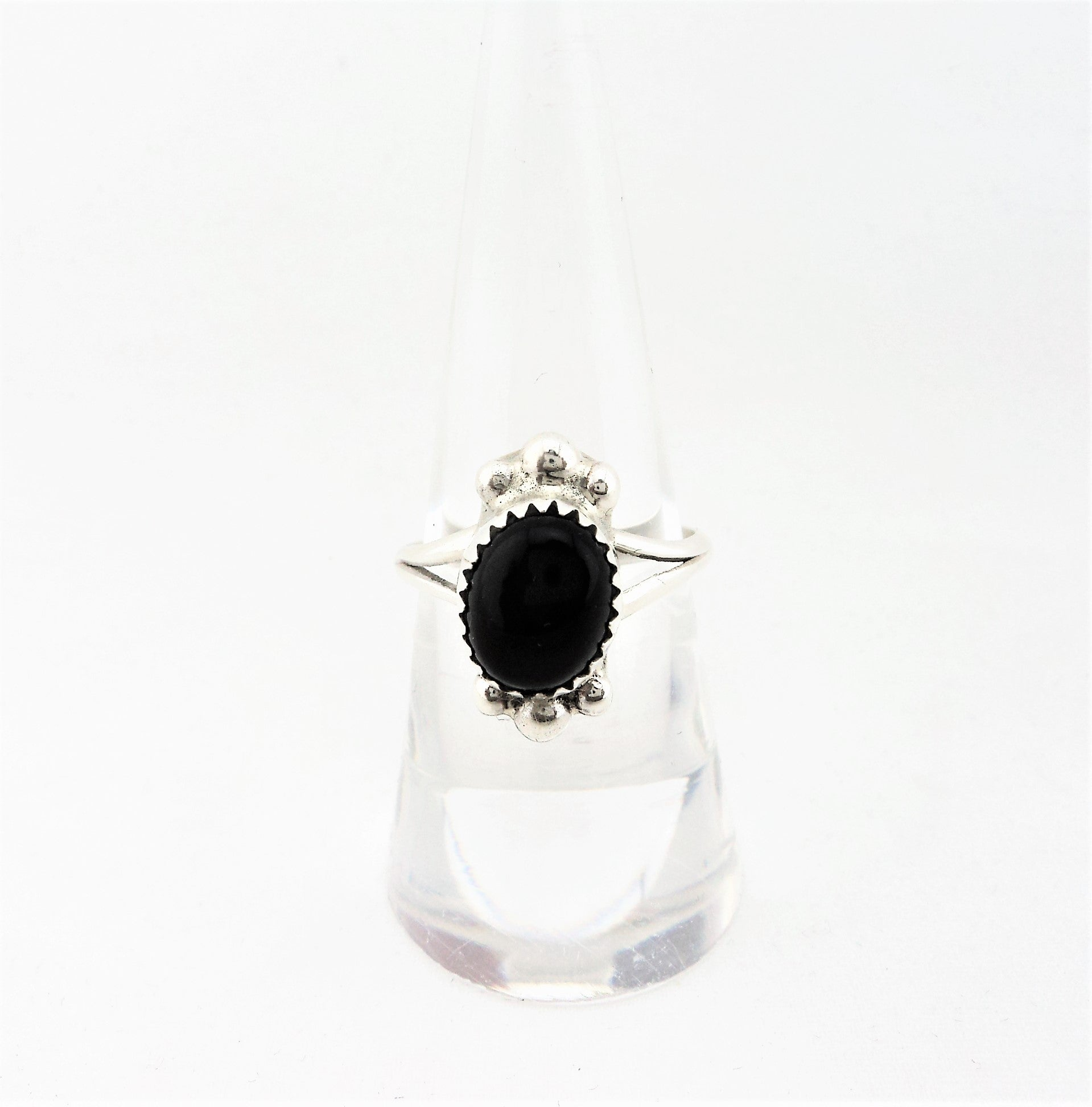 Cindy Begay Sterling Silver and Black Onyx Ring