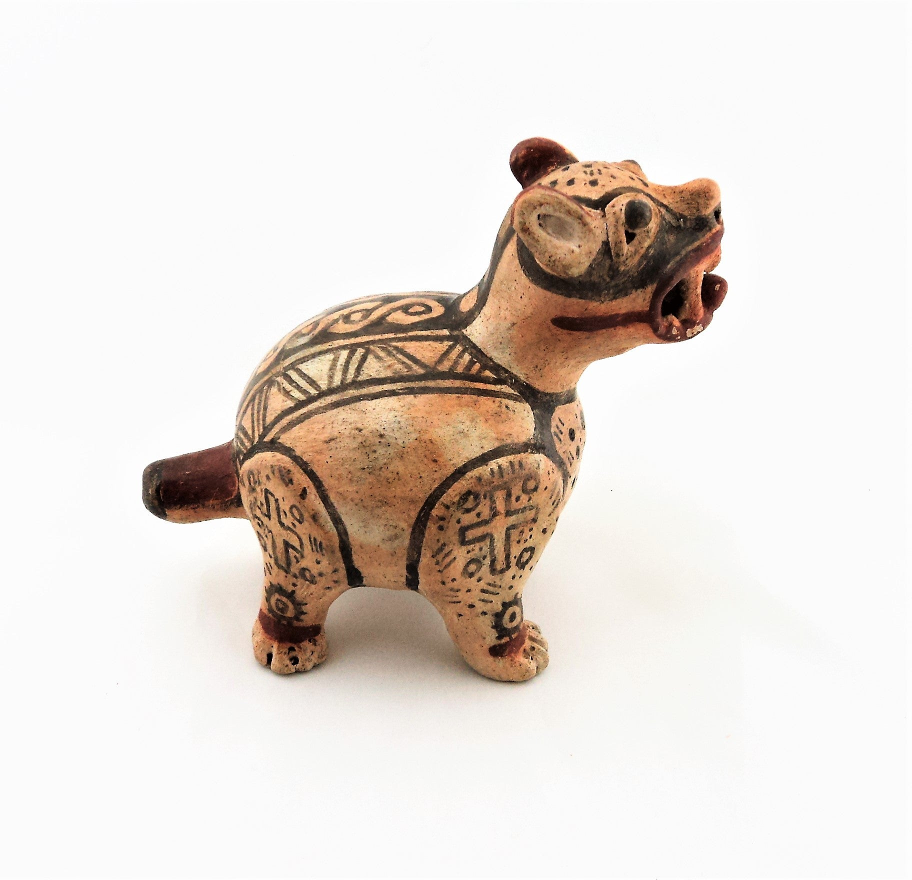 Vintage South American Jaguar Pottery