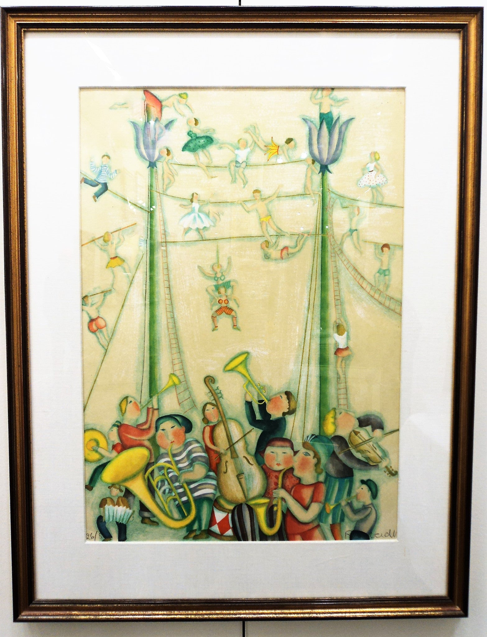 Limited Edition Acrobat Lithograph