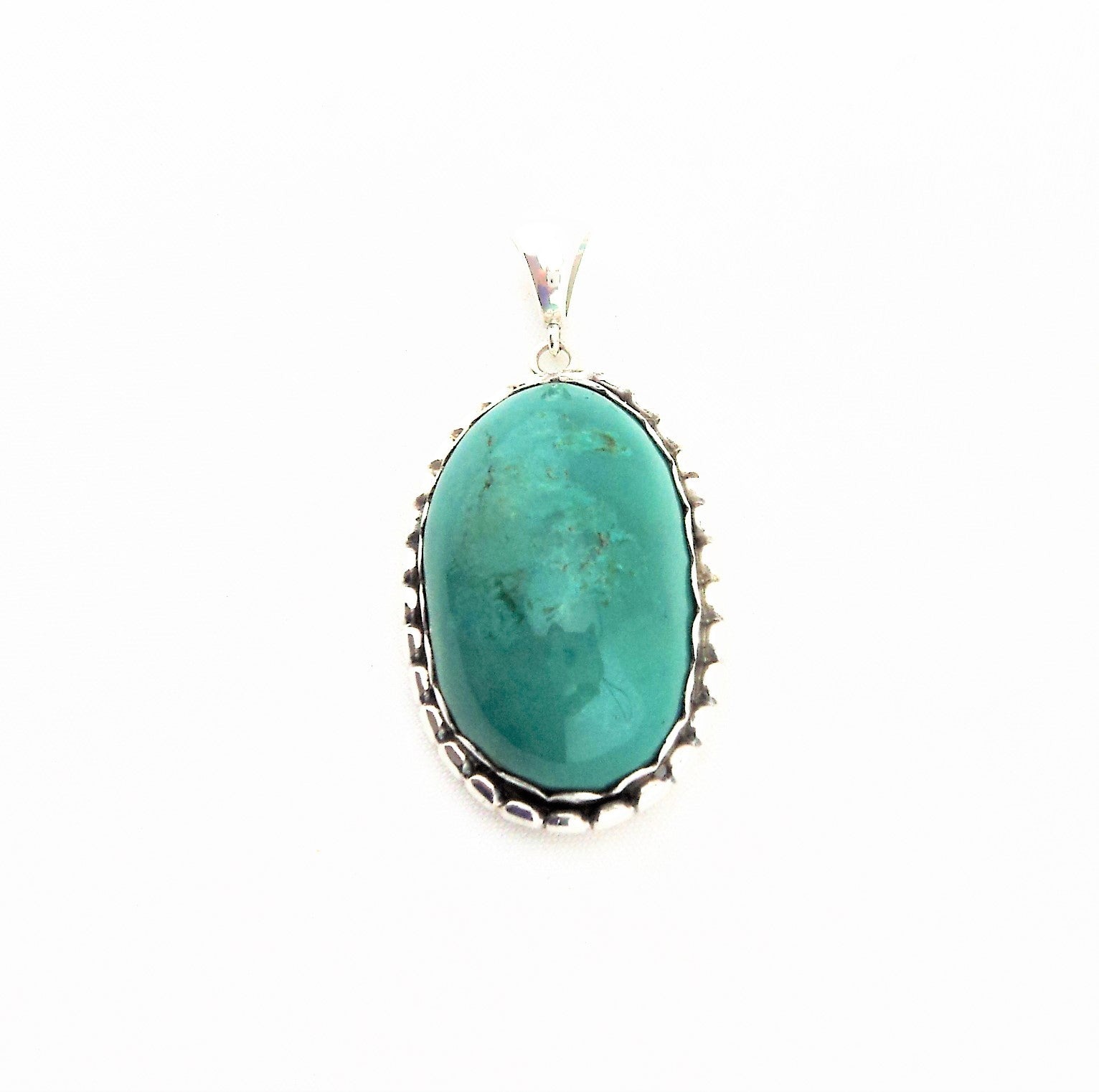 Sterling silver and Turquoise Cabochon Pendant