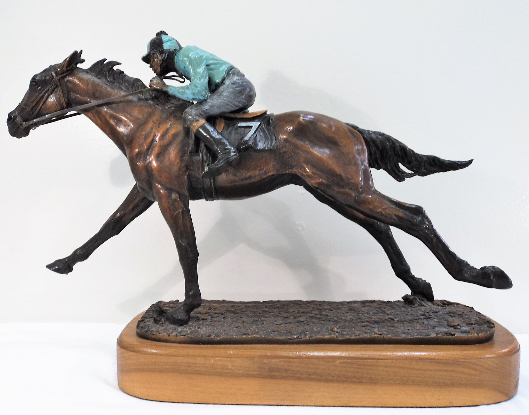 Harland Young Limited Edition Race Horse Bronze Sculpture