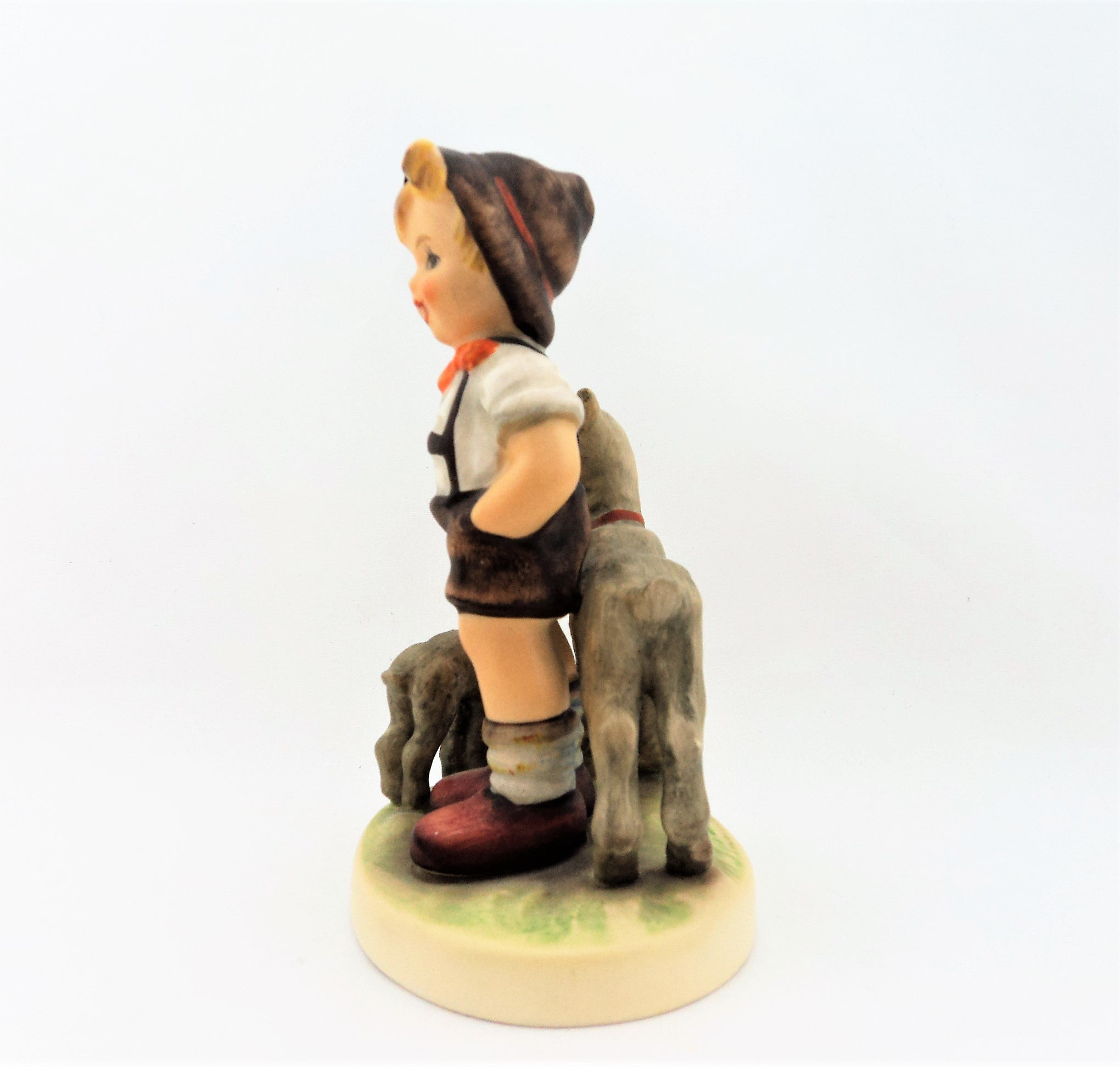 Vintage Hummel Boy with Lambs Figurine