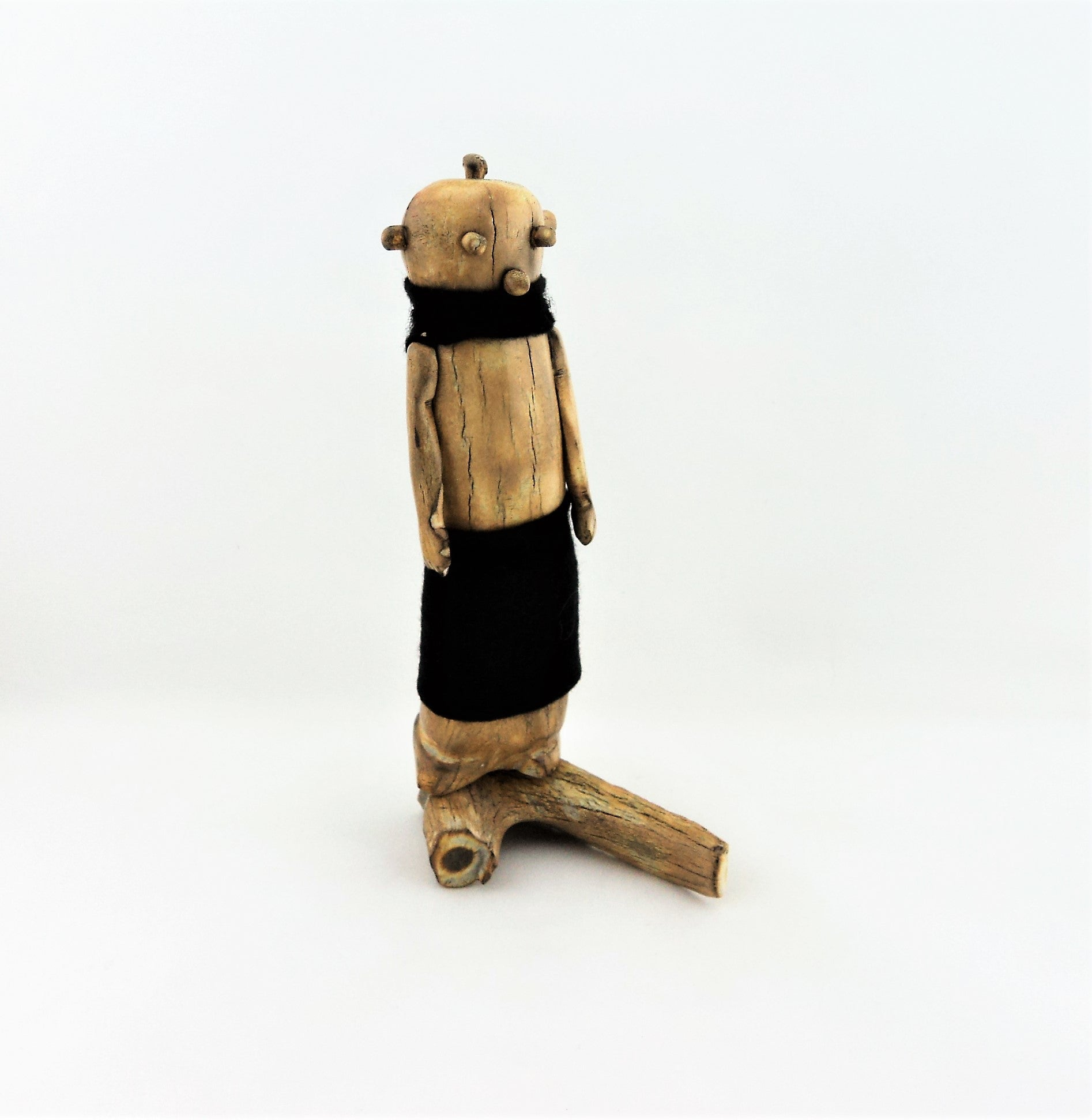 Antler Bone Carved Mudhead Kachina