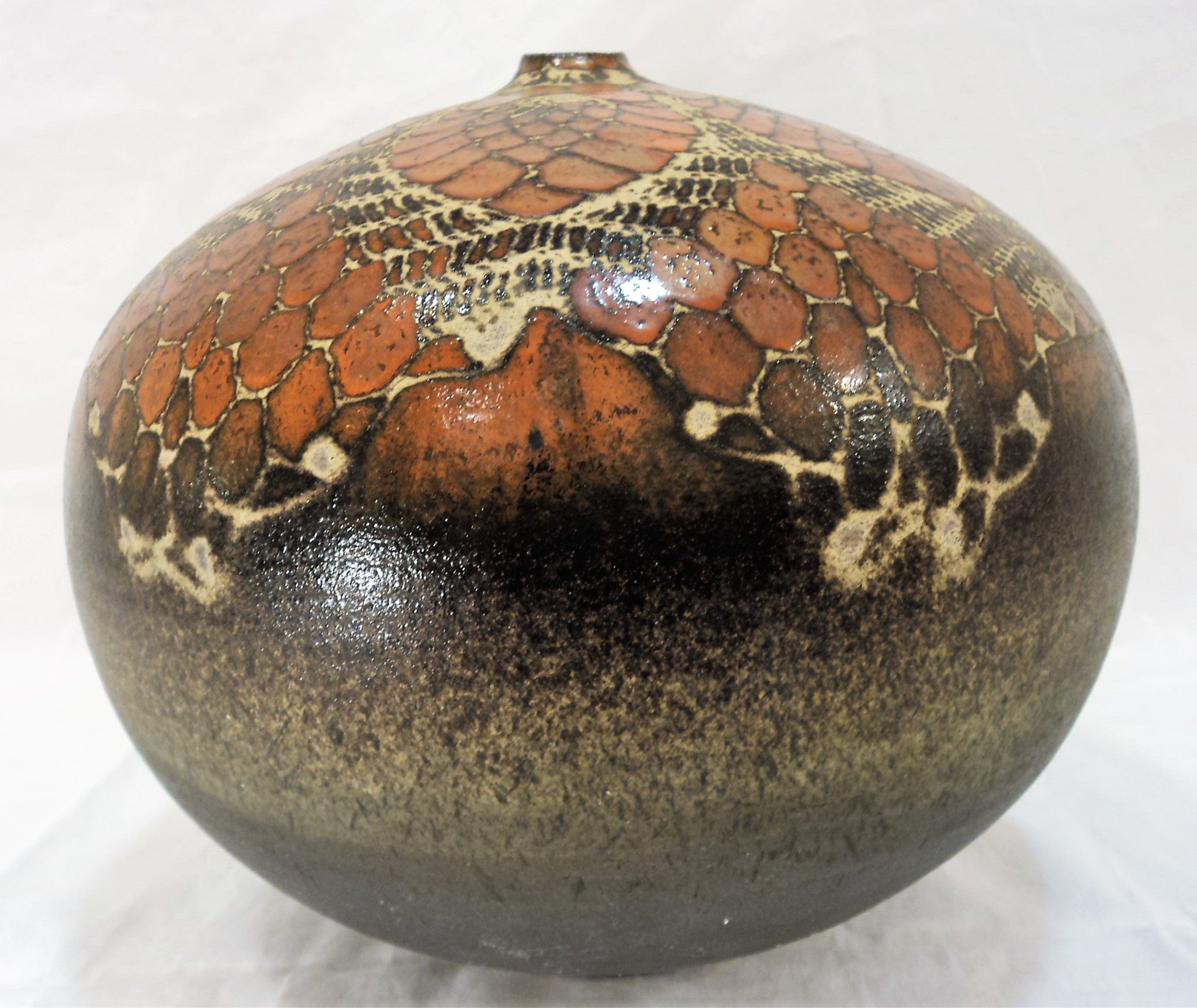 Signed James Raku Pottery Vessel Pair