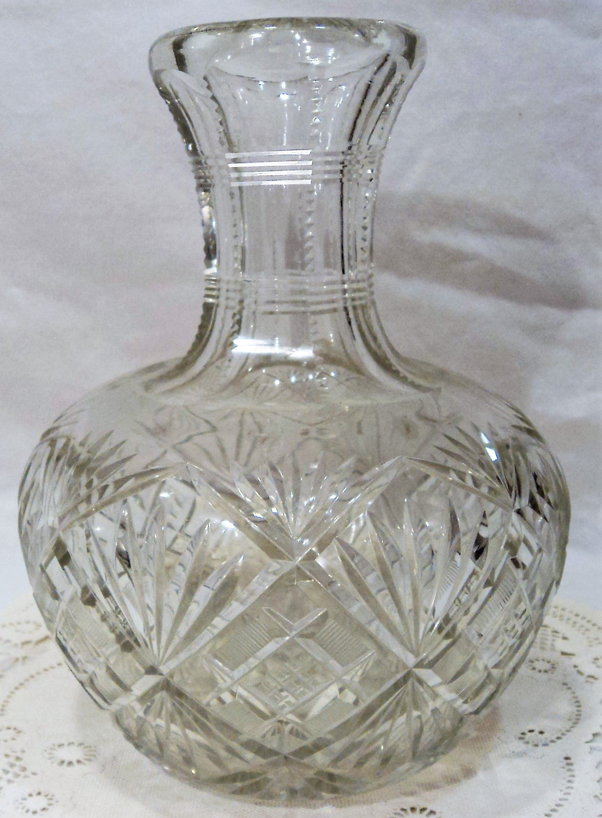 American Brilliant Cut Crystal Carafe/Vase