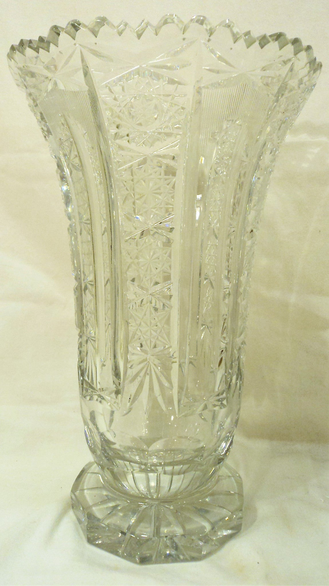 American Brilliant Cut Crystal Vase