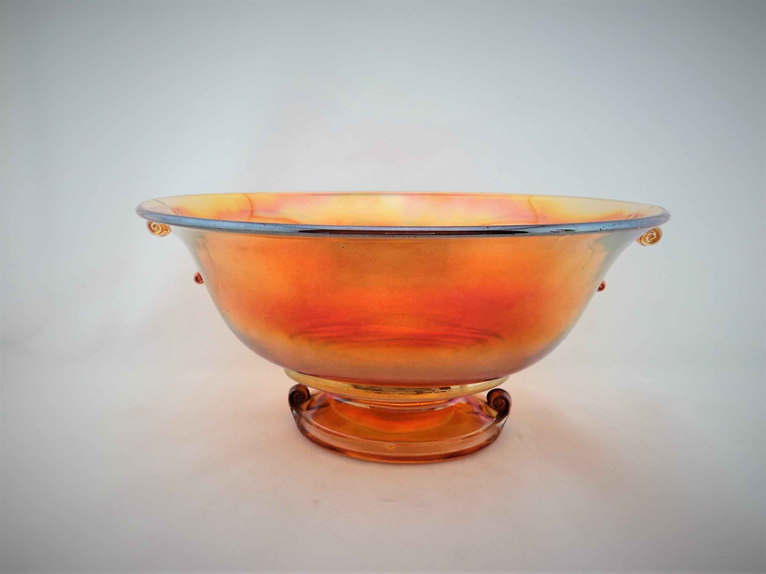 1920s Imperial Carnival Glass Double Scroll  Bowl