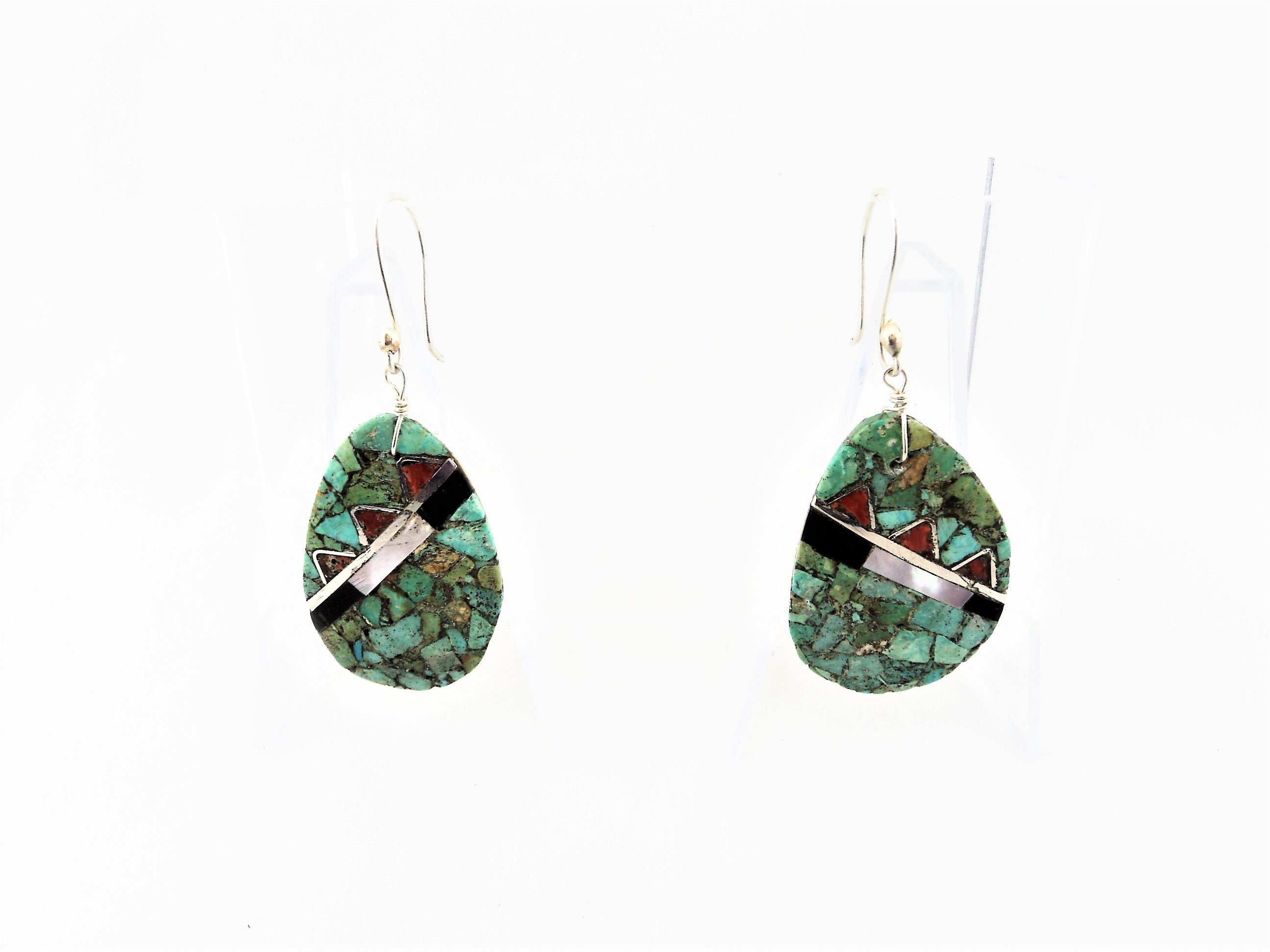 Santo Domingo Oval Mosaic Melon Shell Earrings