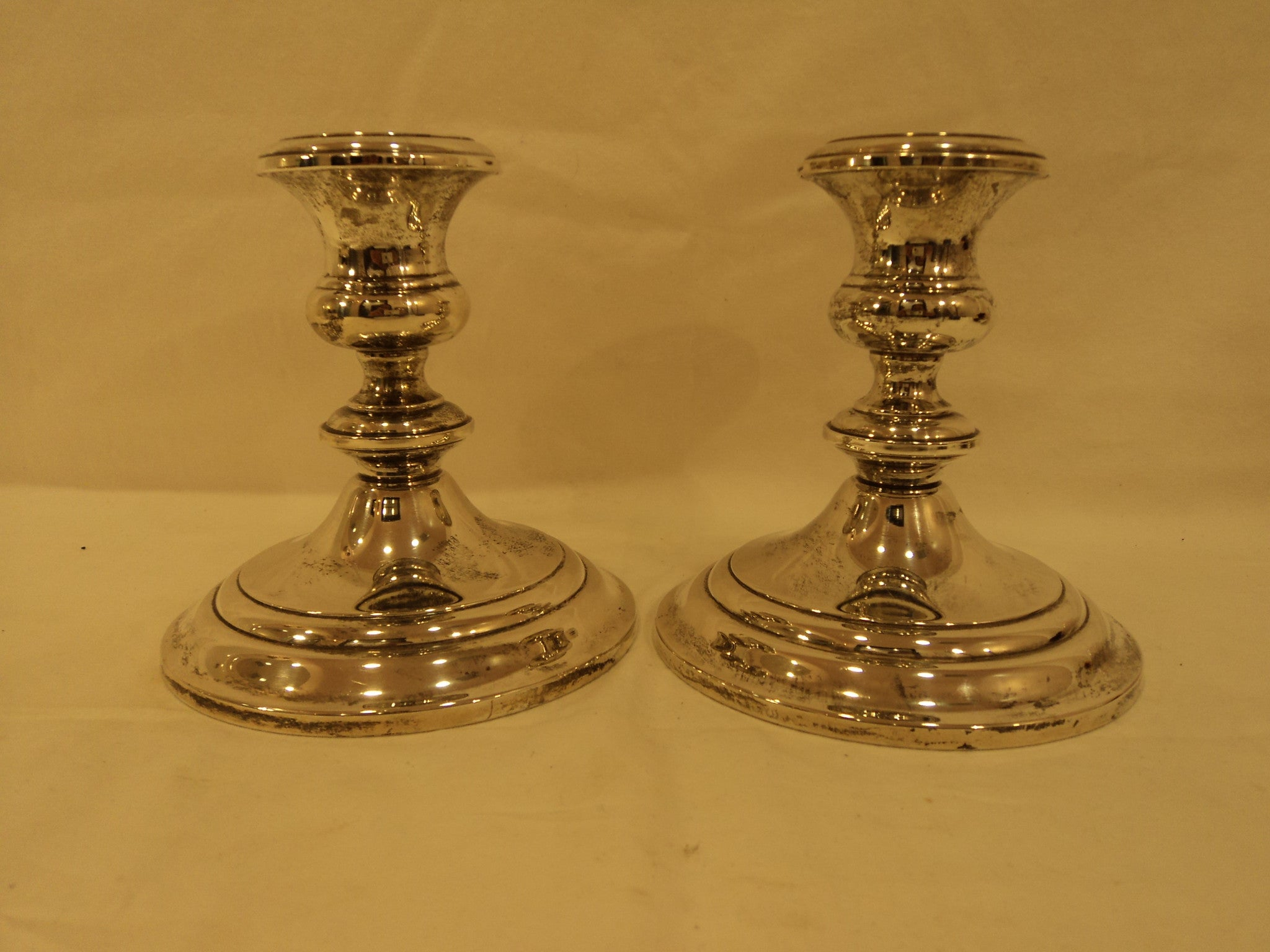 Weighted Sterling Silver Candlesticks 100217