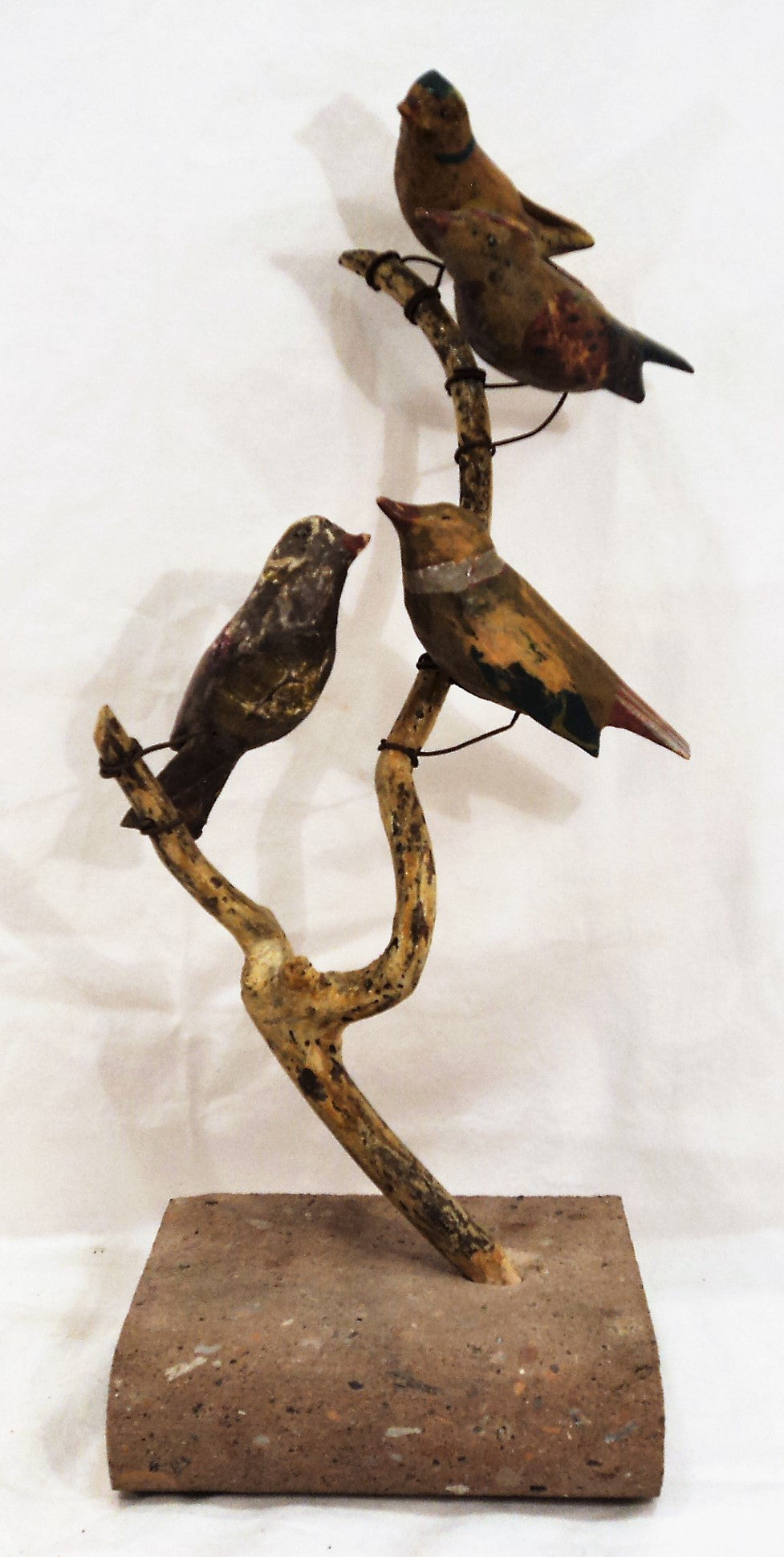 Folk Art Carved Bird Sculpture
