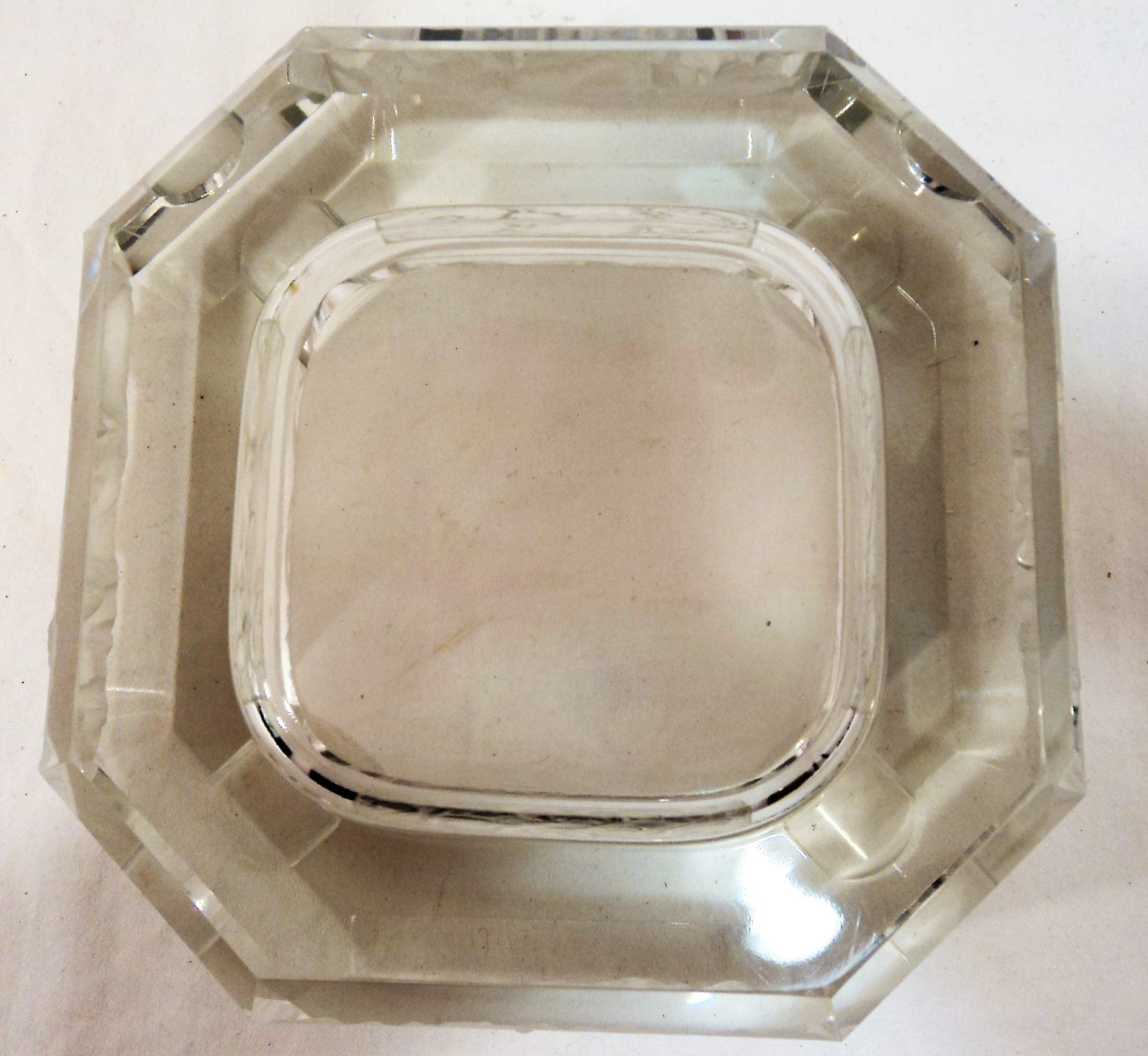 Art Deco Zodiac Crystal Ash Tray