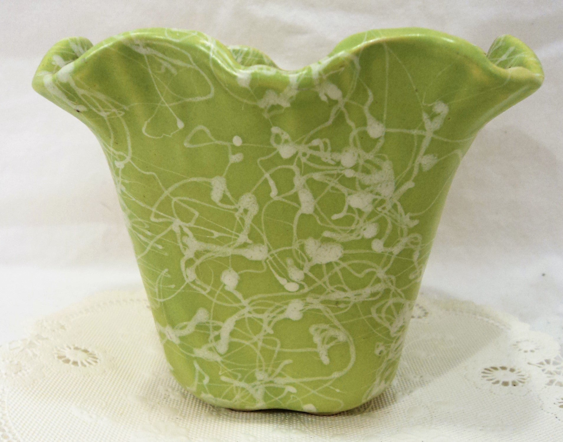 Vintage Green Shawnee Planter