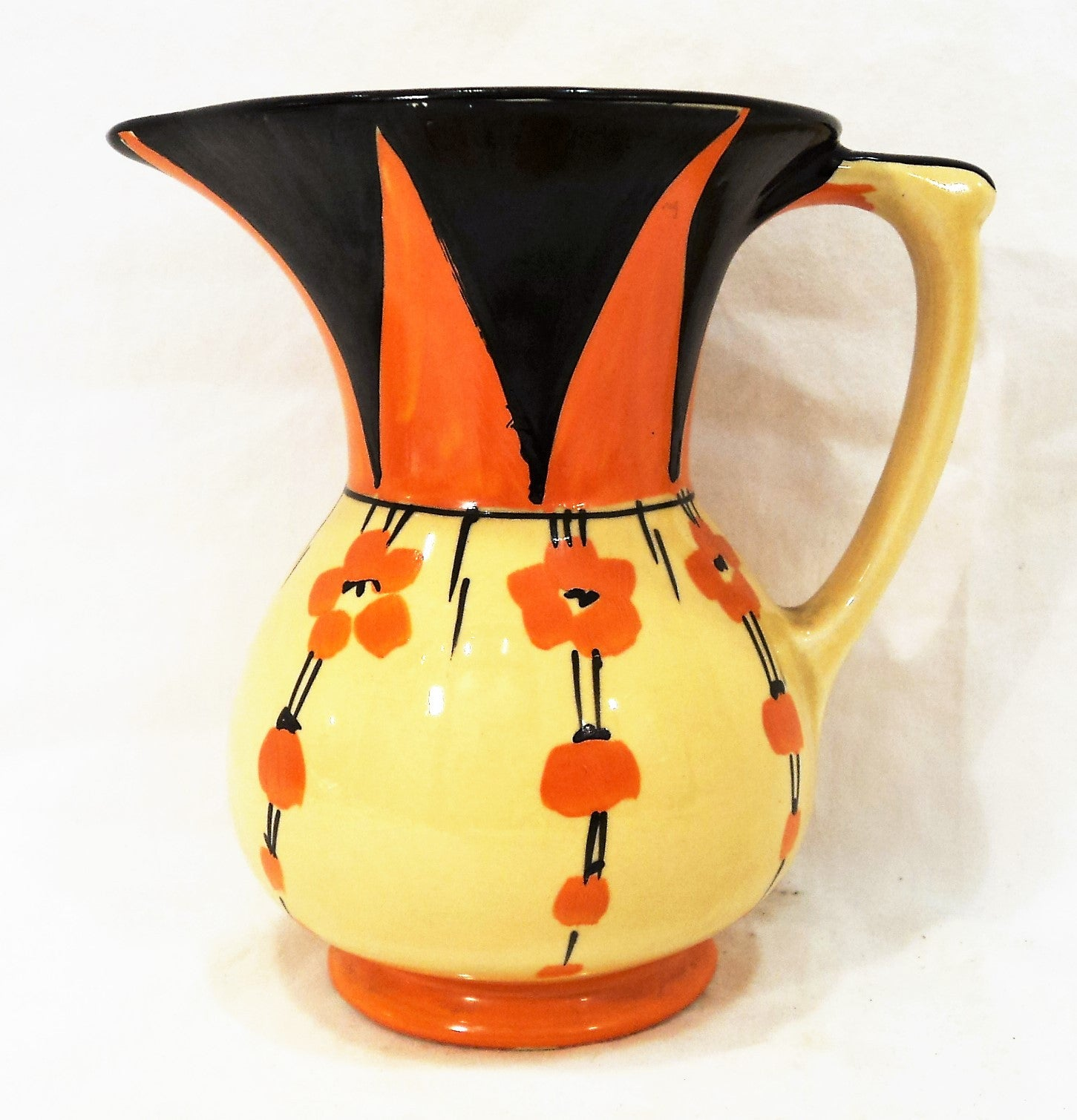 Hand-Painted Art Deco Pitcher