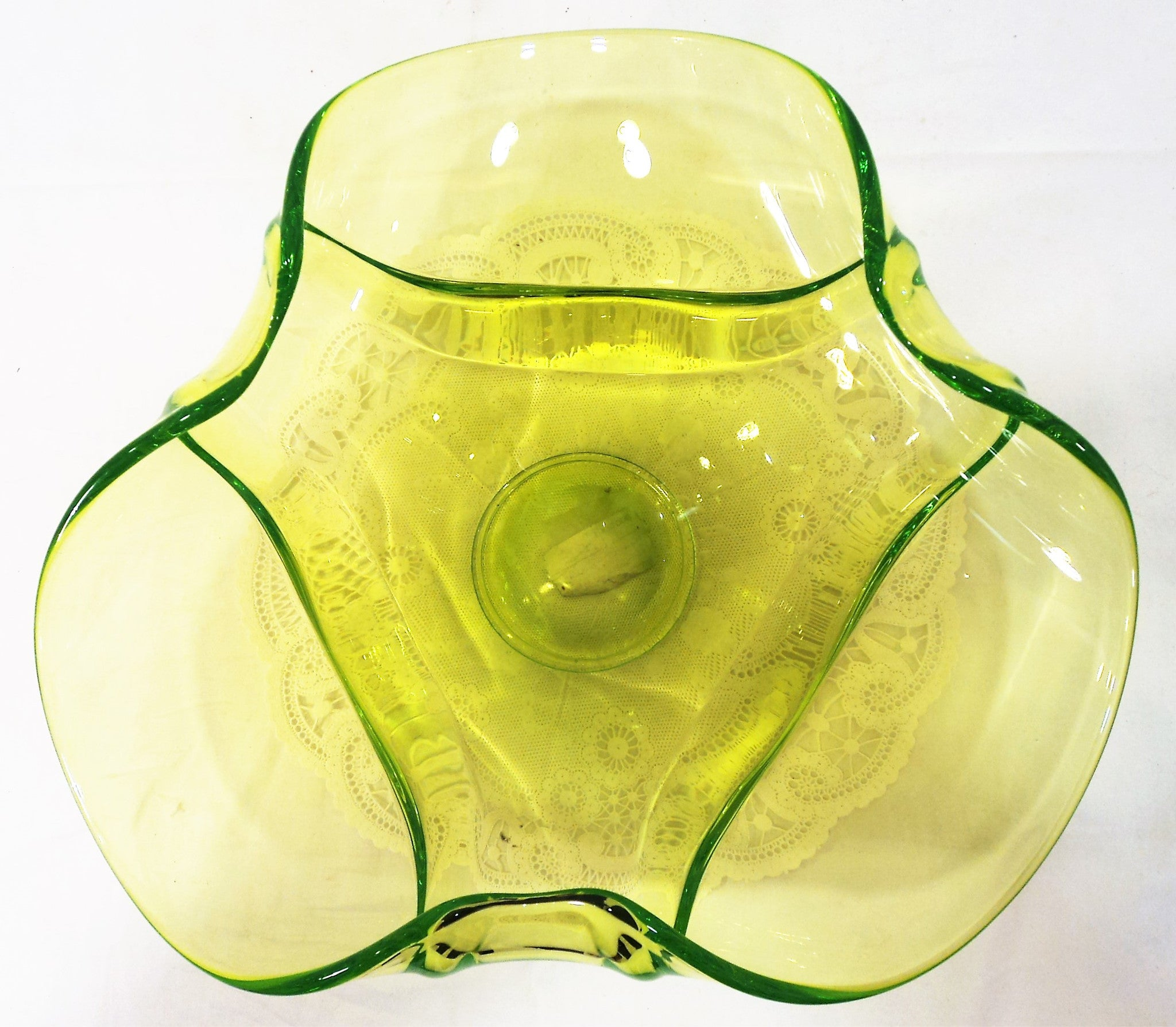 Rare Vaseline Glass  Bowl