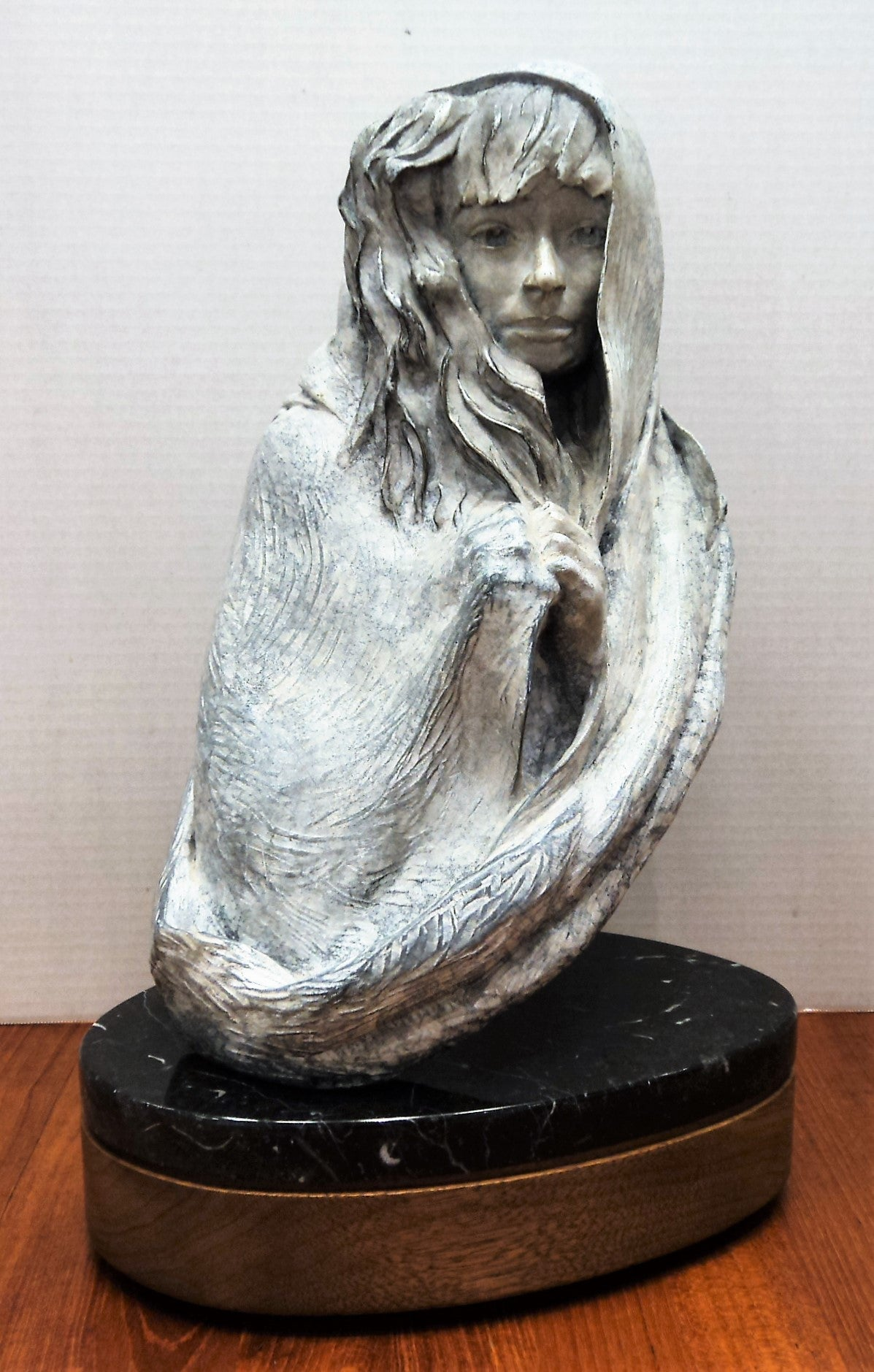 Denny Haskew (1948-) Female Bust Ltd. Ed. Bronze Sculpture