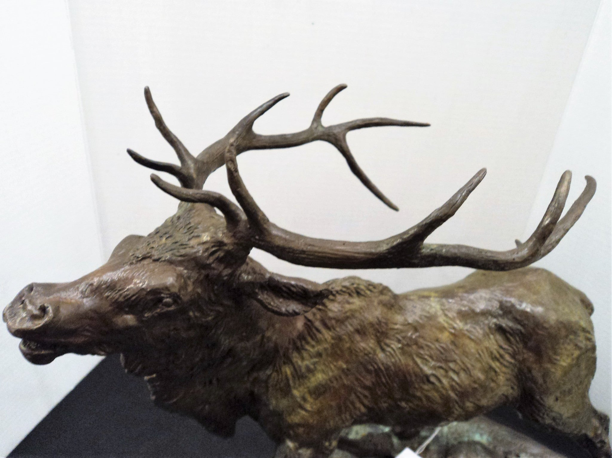 Harland Young (1924-2015) Elk Ltd. Ed. Bronze Sculpture