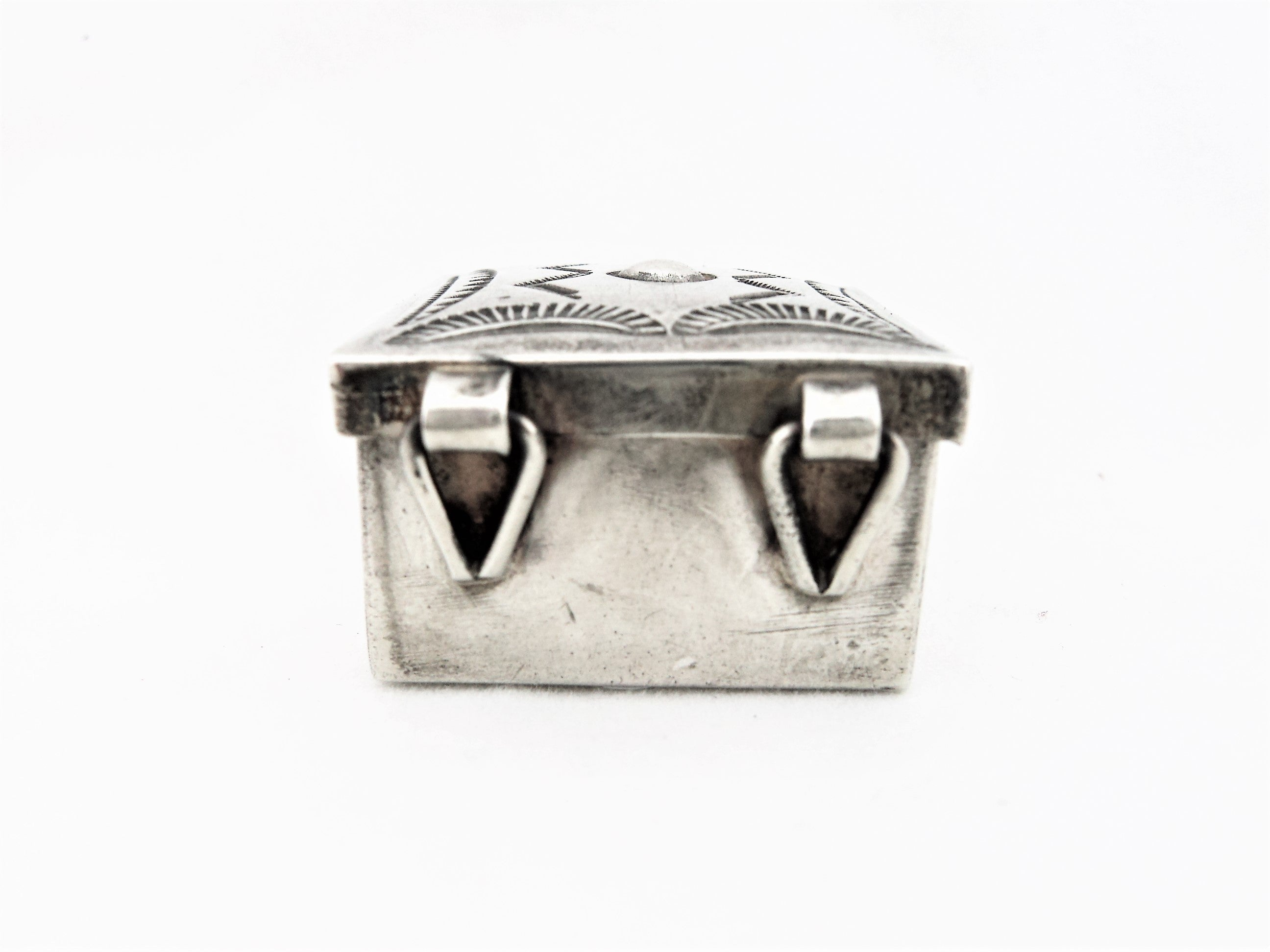 Stamped Silver Trinket Box