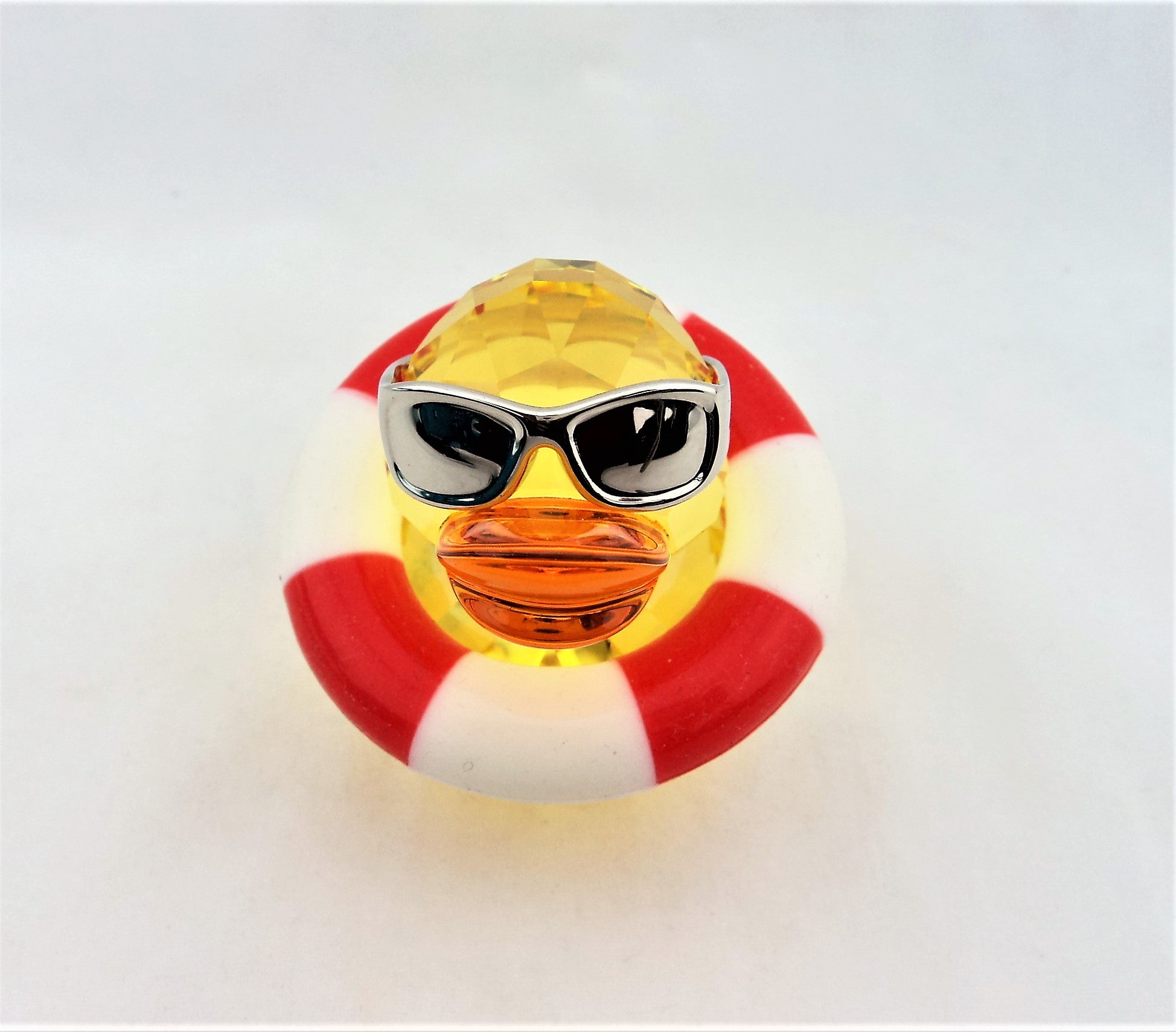 Yellow Swarovski Crystal Duck