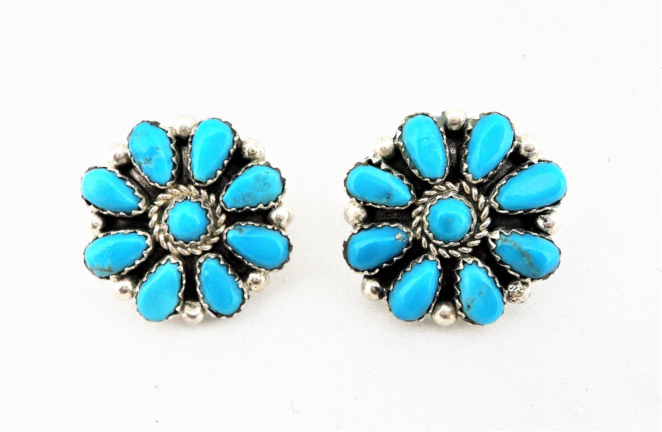 Fannie Begay Turquoise Earrings