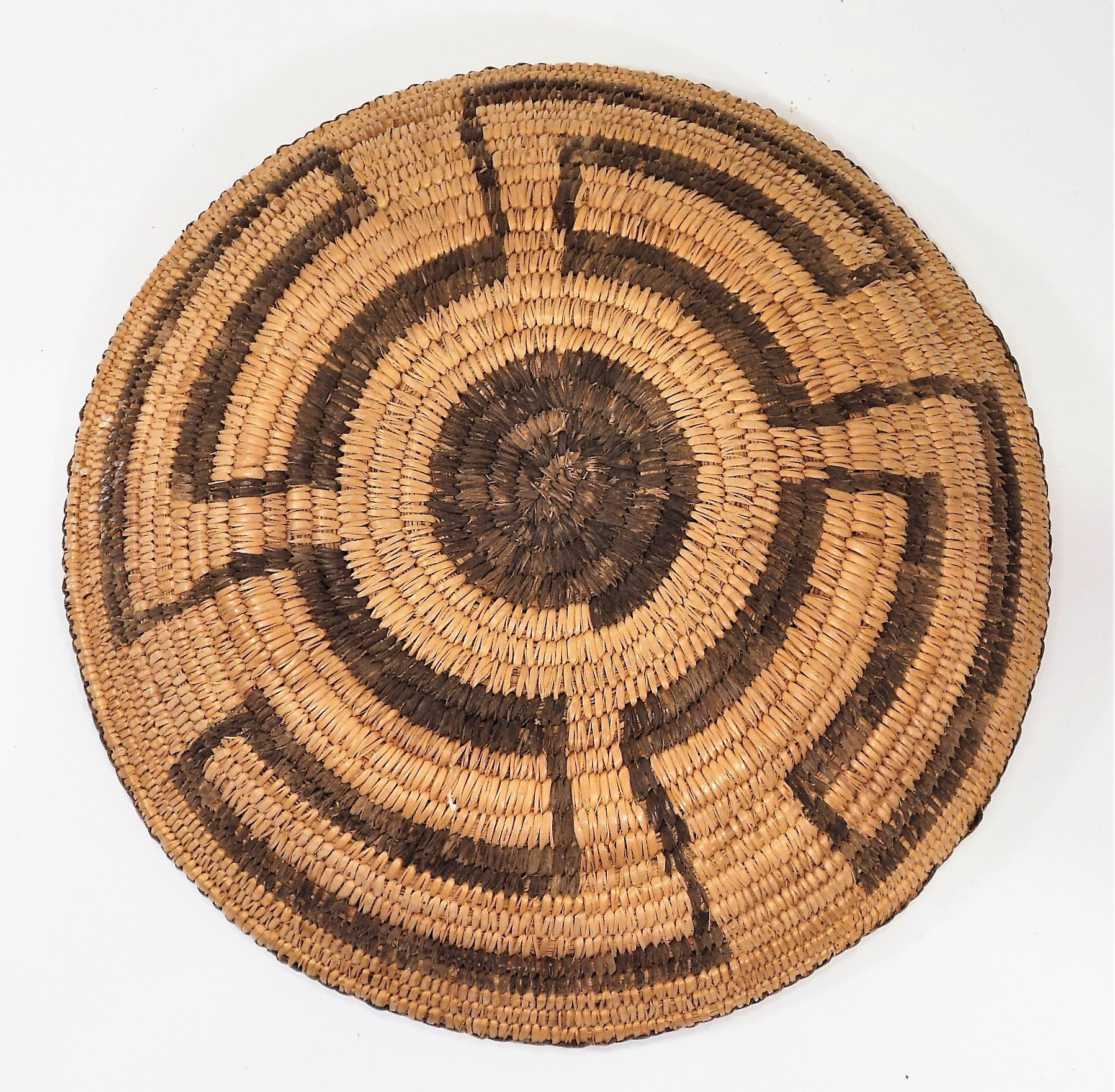 Pima Tray Basket with Four Winds Pattern 1915-1920