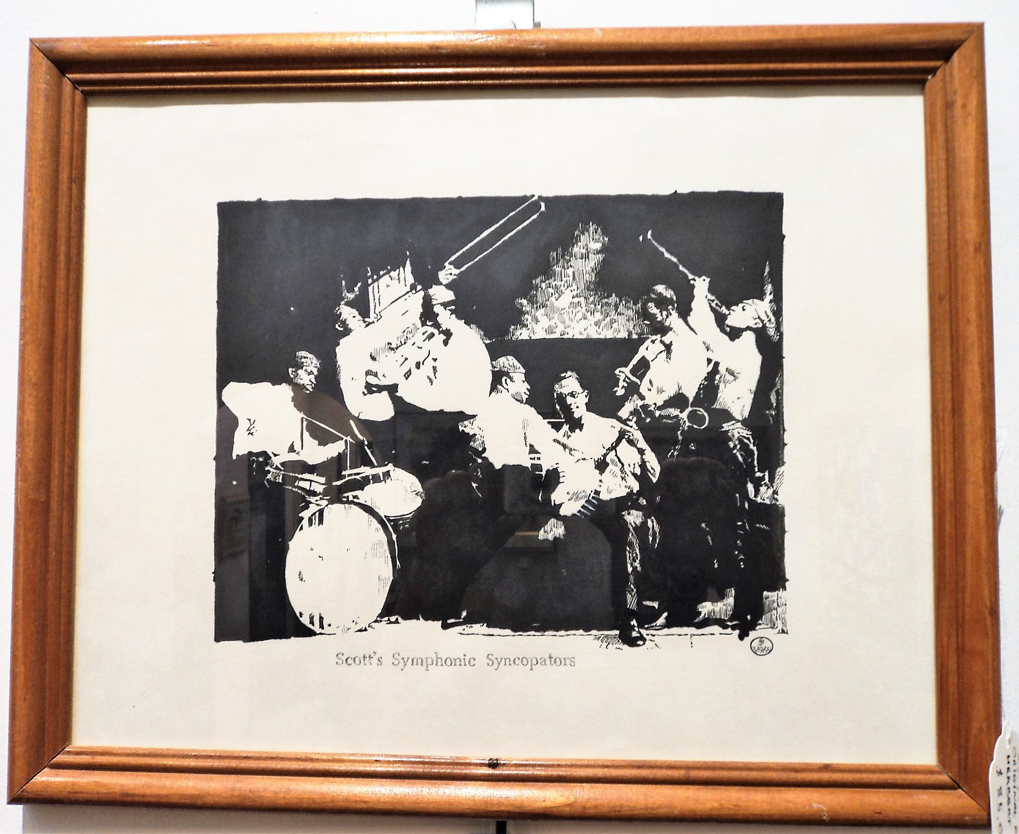 Jazz Study Ink Drawing