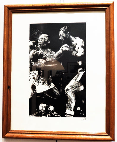 Ink Drawing of Boxing Fighters