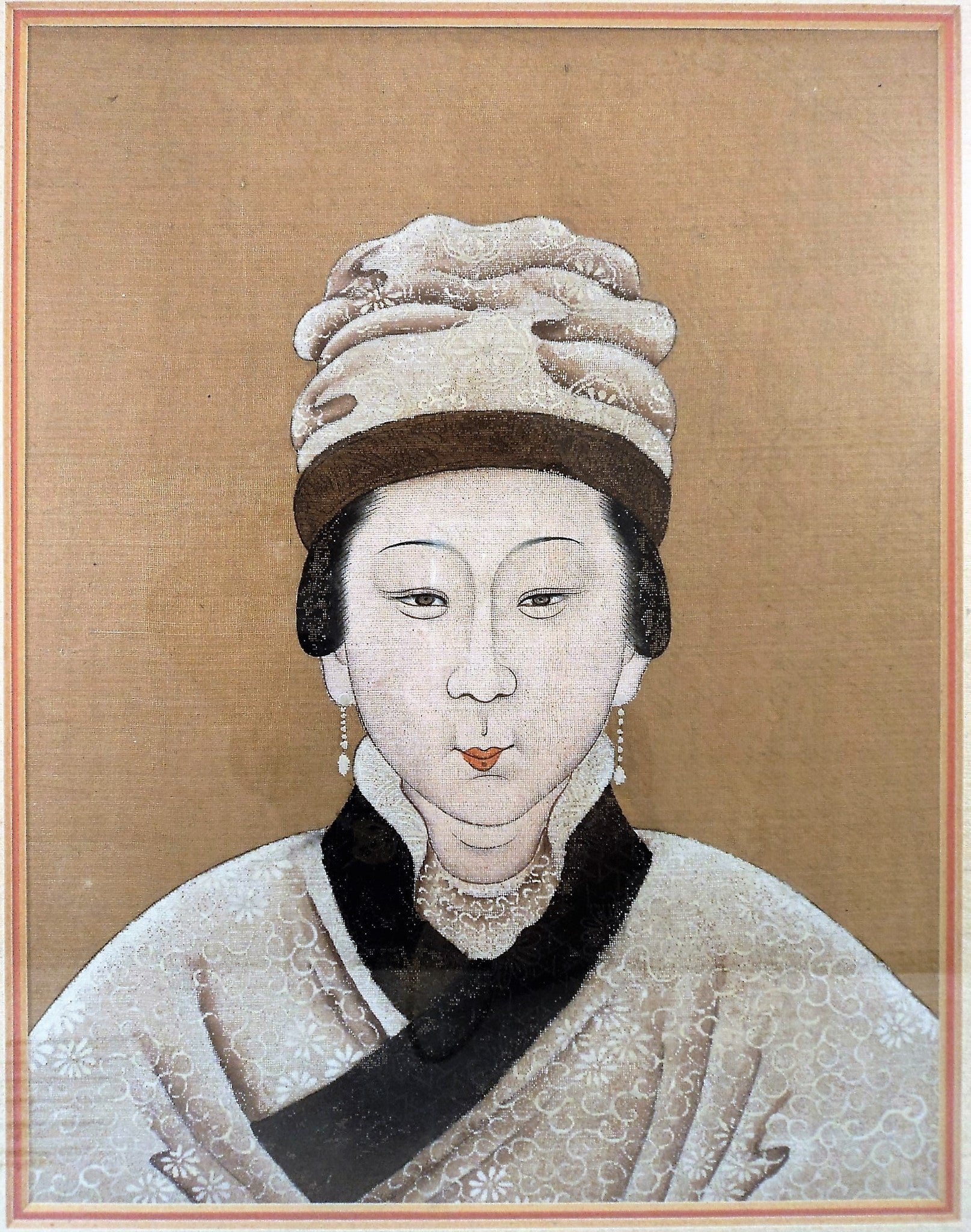 19th C. Northern Chinese Elders Portrait Painting on Silk