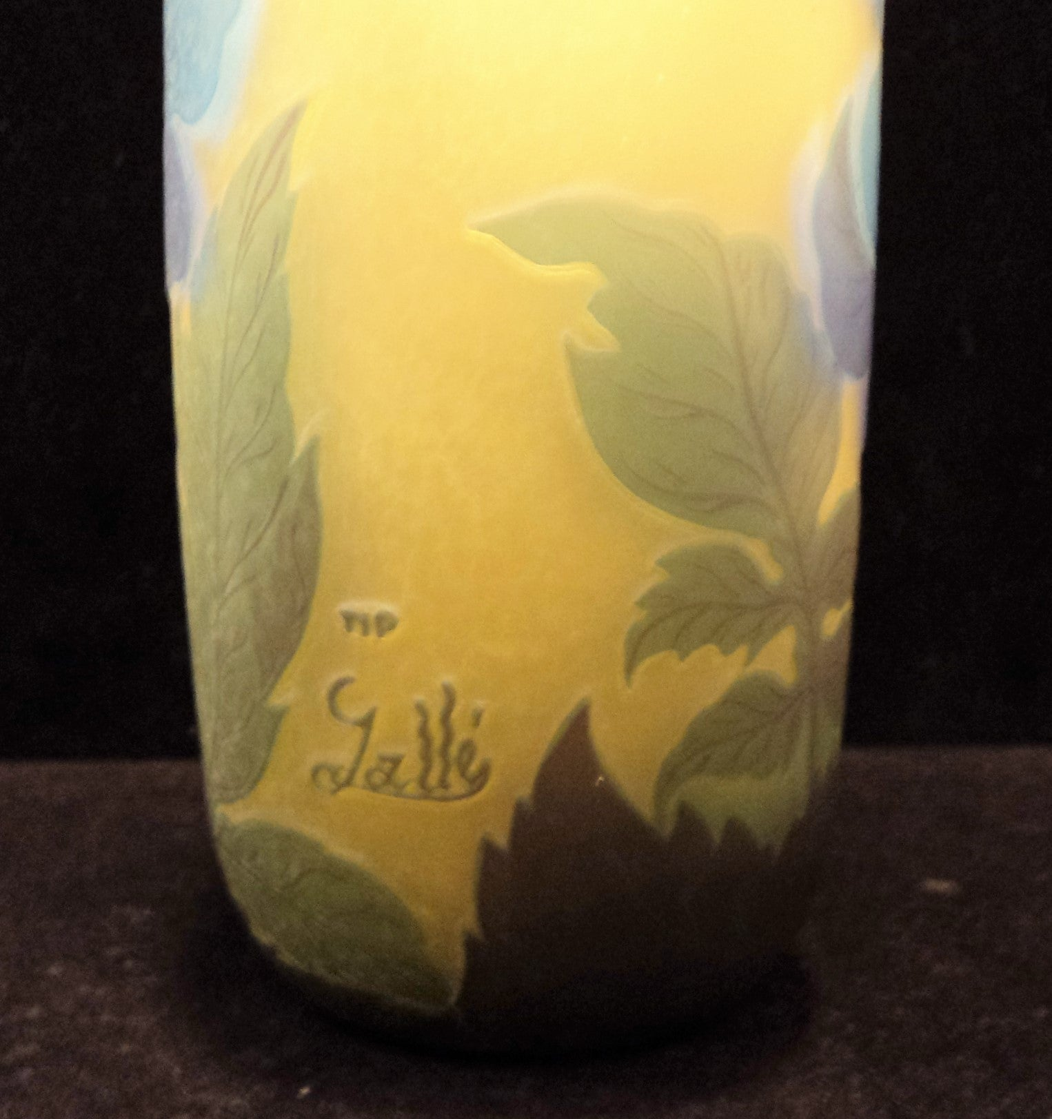 Light Yellow Galle Reproduction Vase