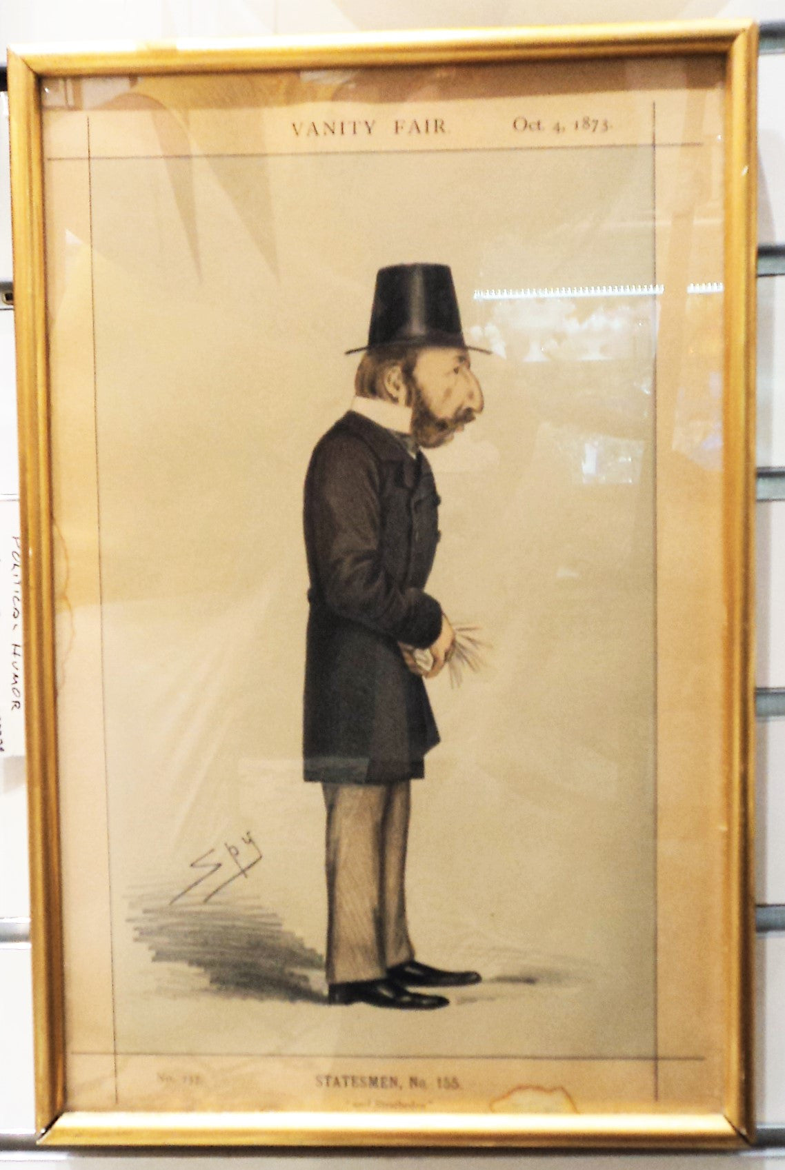Antique Vanity Fair Satire 1873