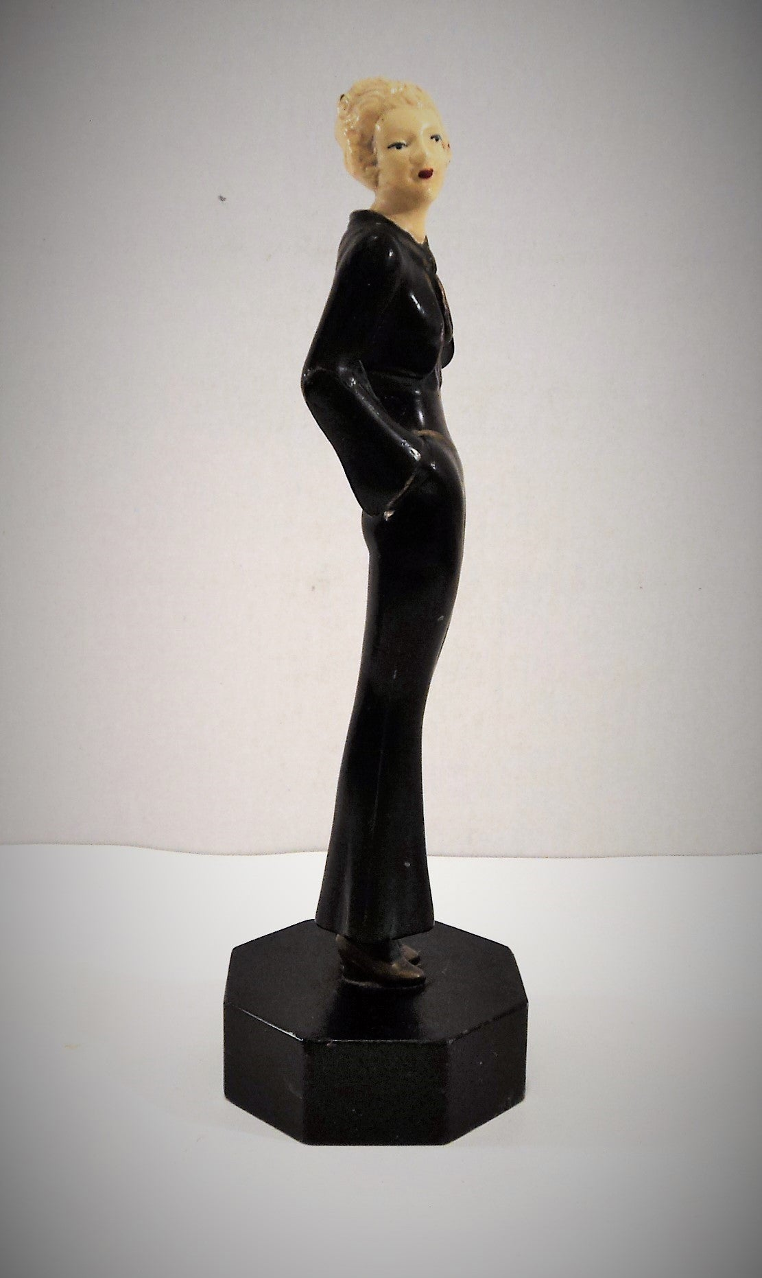 Vintage Spelter Female Figure
