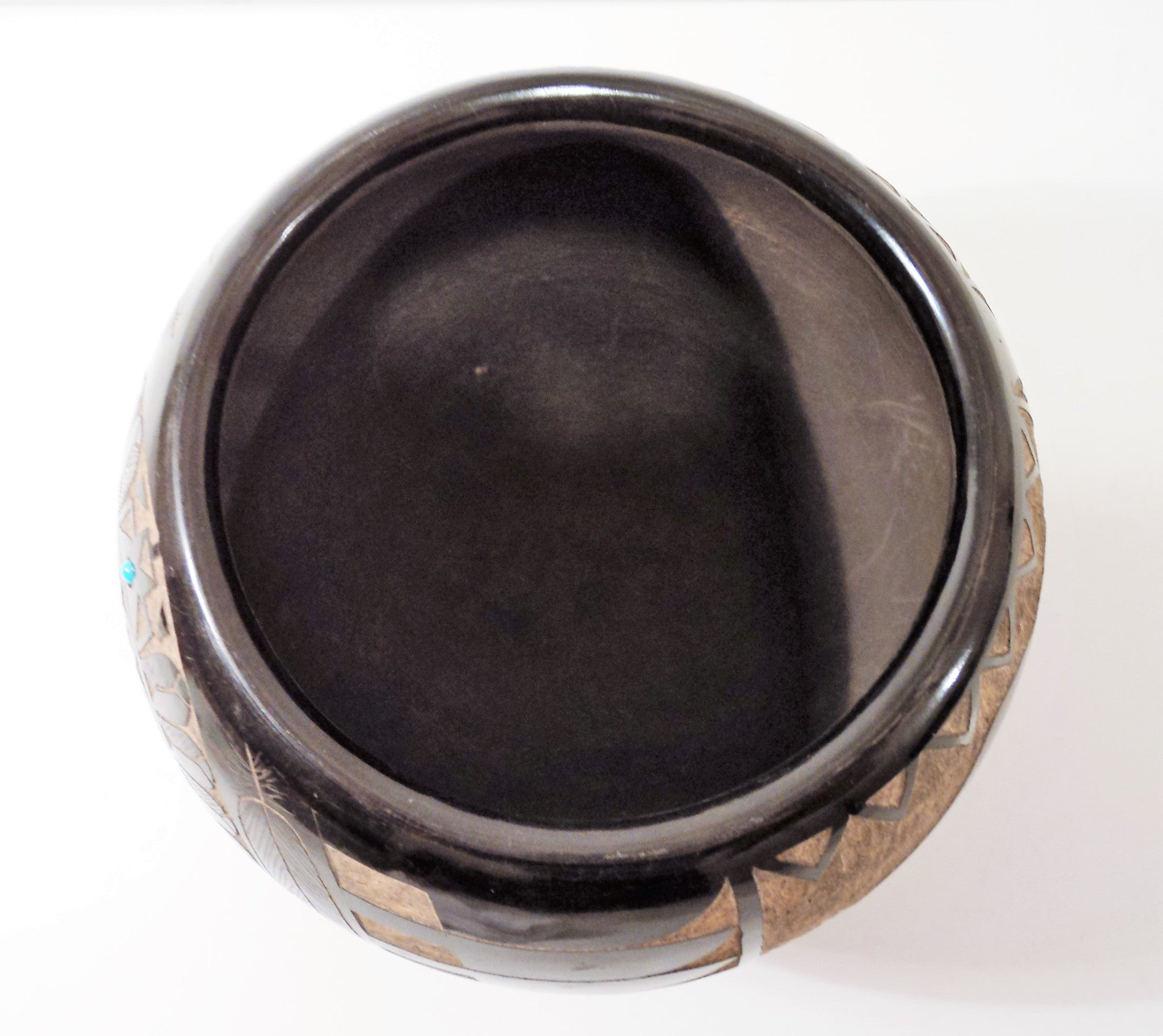 Santa Clara and  Sioux Blackware Pot