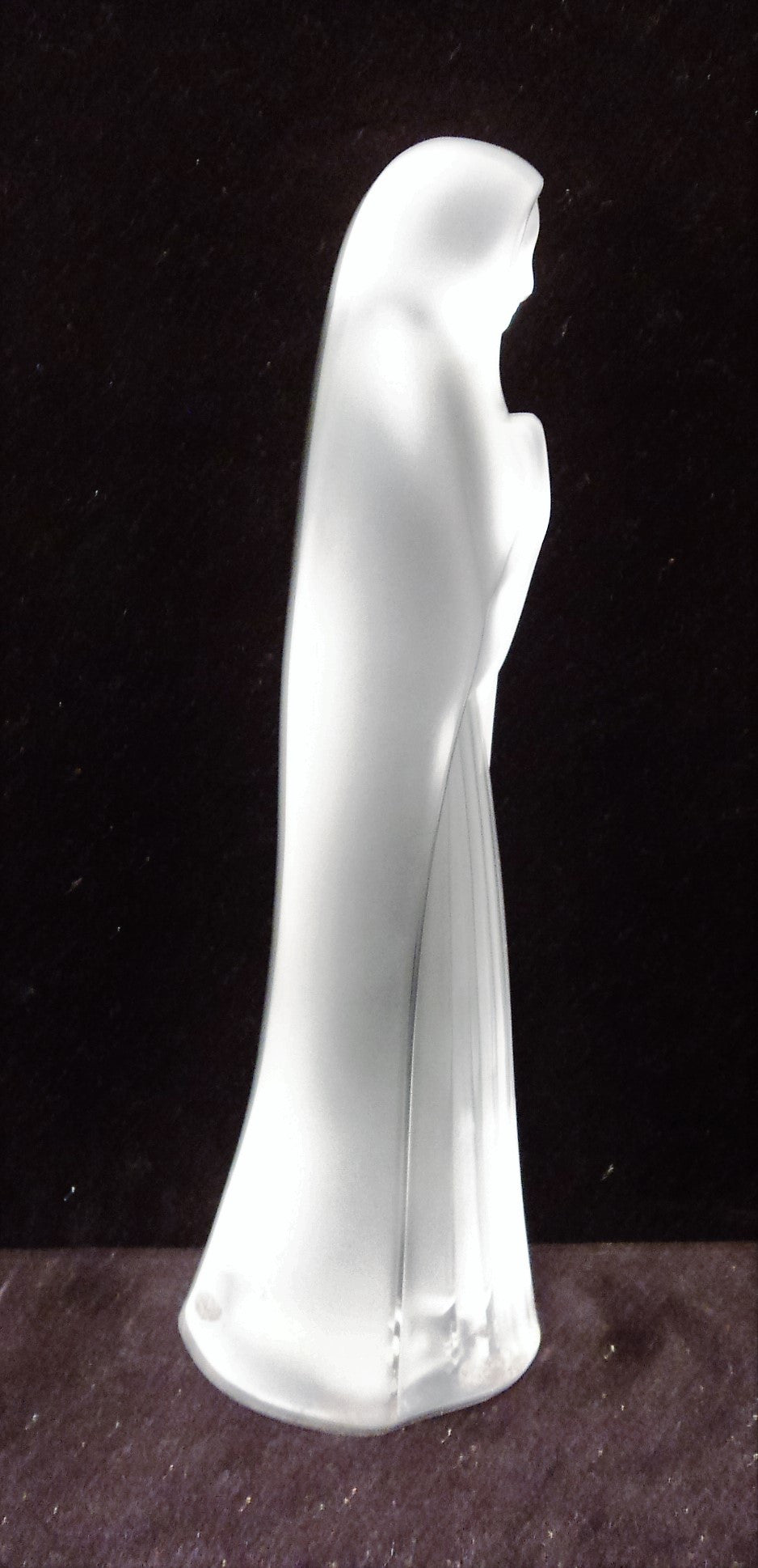 Lalique Crystal Virgin Mary Statue