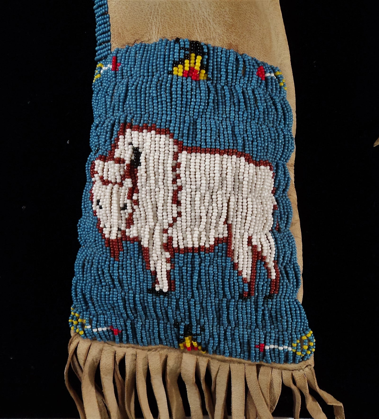 20th C. Plains Indian Beaded leather Pipe Bag