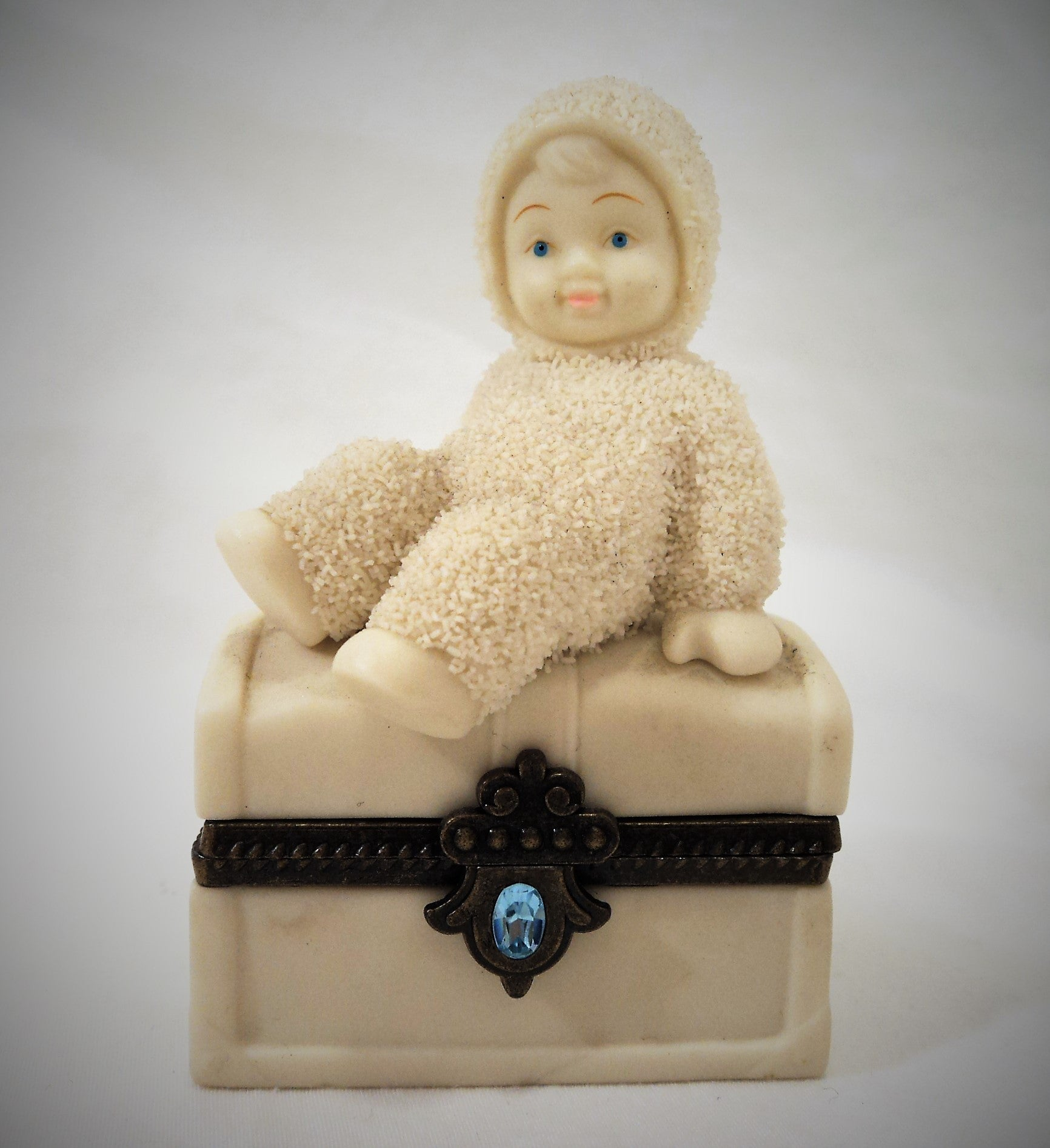 Dept. 56 Bisque Snow Angel Trinket Box