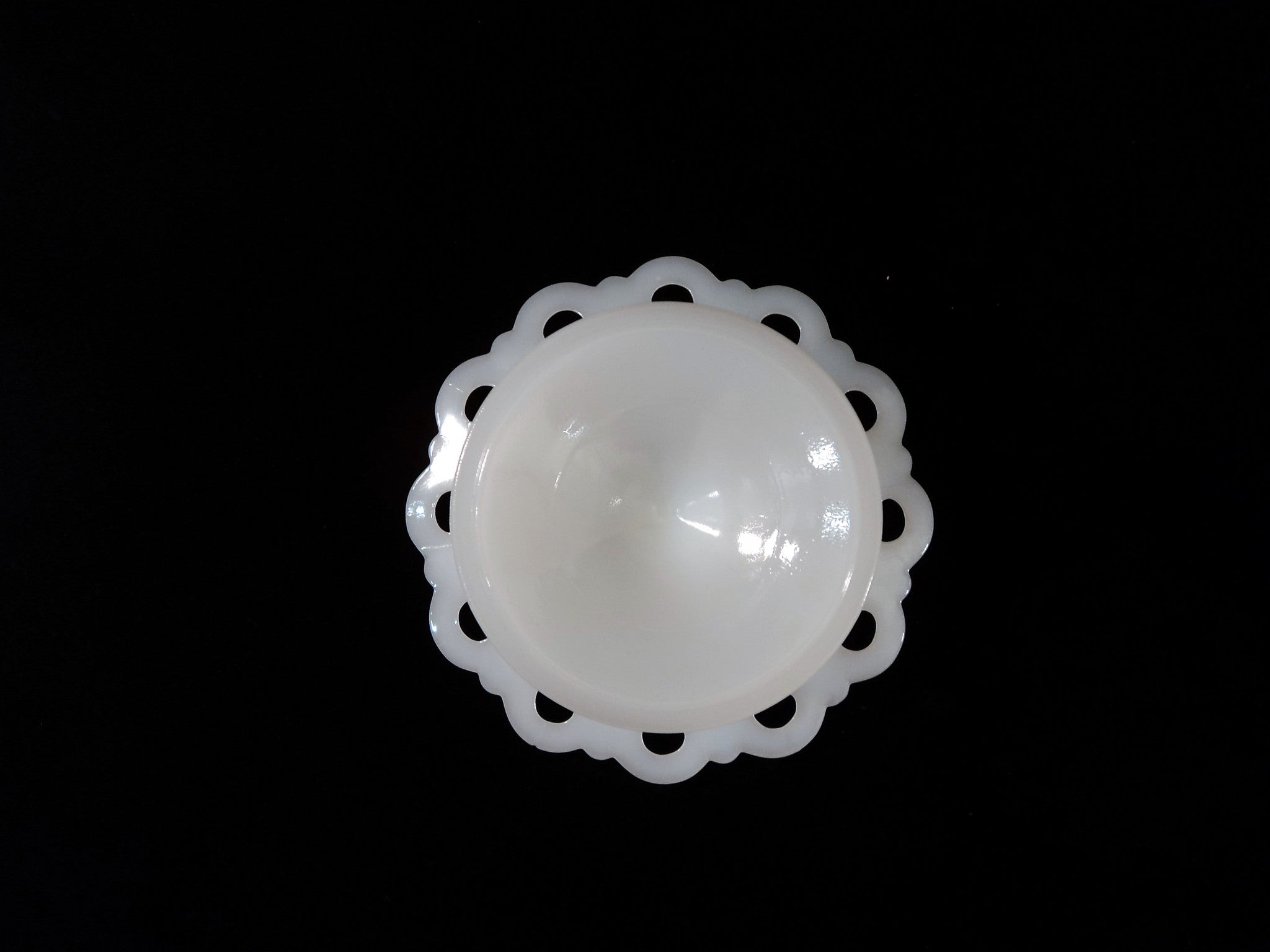 Vintage Milk Glass Footed Compote