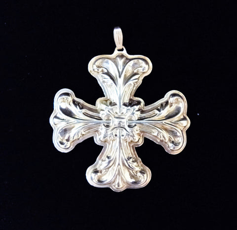 Reed & Barton Sterling Silver 1994 Christmas Cross Ornament