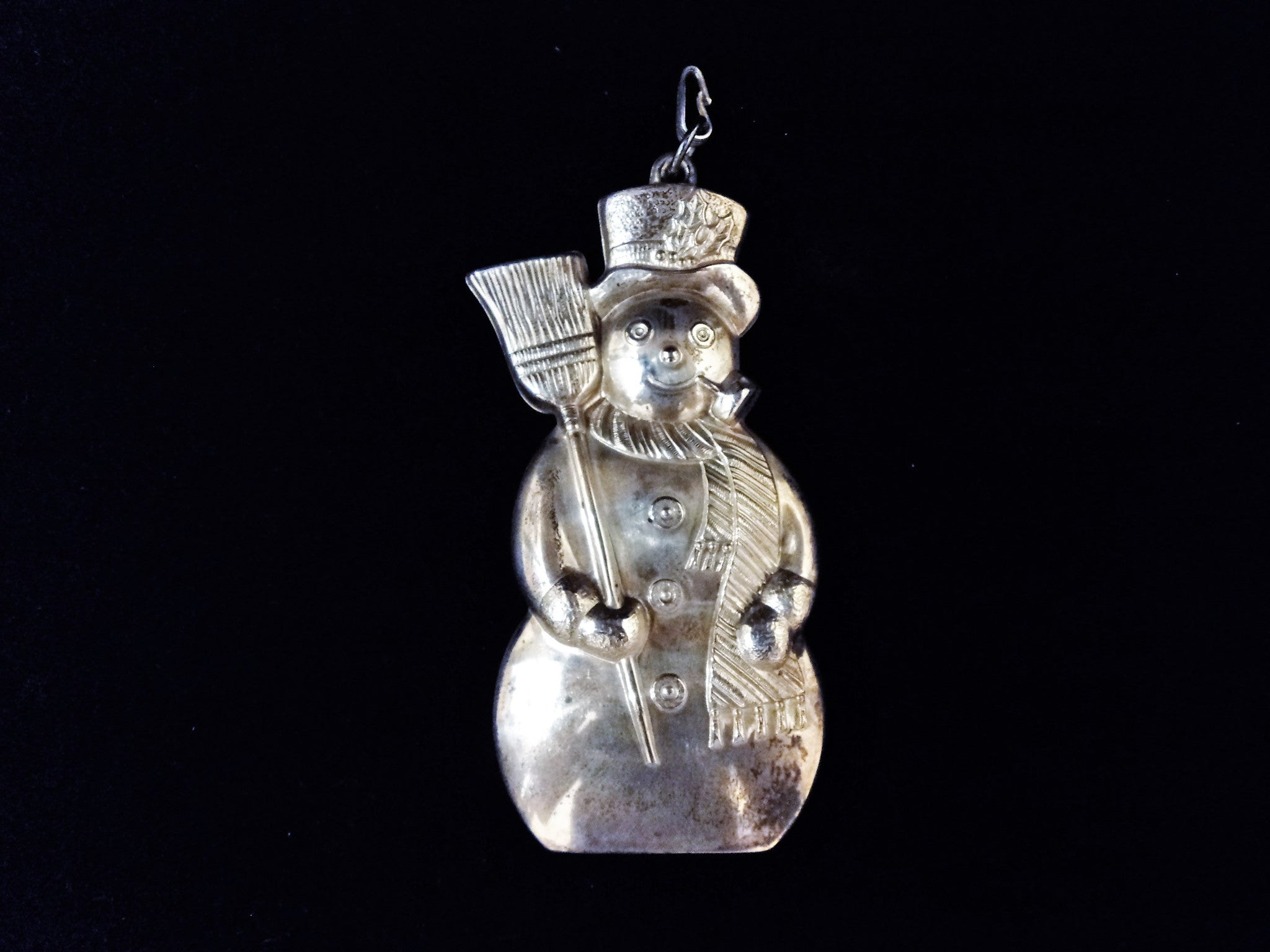 Gorham 1986 Sterling Silver Frosty Snowman Christmas Ornament