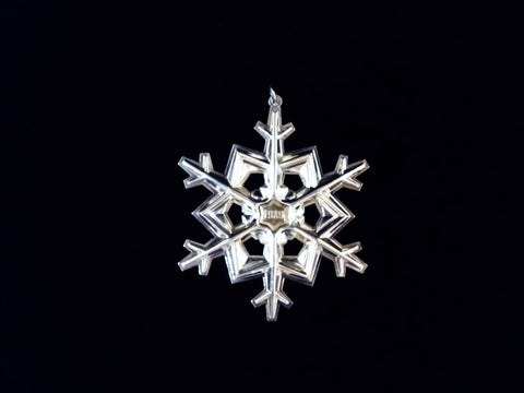 Gorham 1989 Sterling Silver Snowflake Christmas Ornament