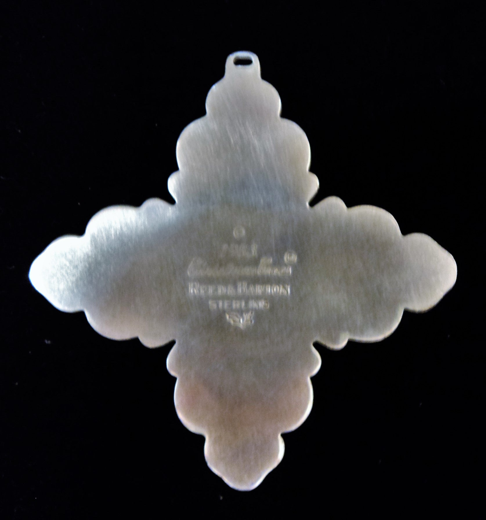 Reed & Barton Sterling Silver 1983 Christmas Cross Ornament