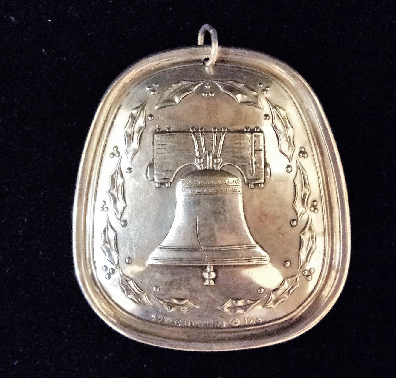 Towle 1976 Sterling Silver Liberty Bell Christmas Ornament