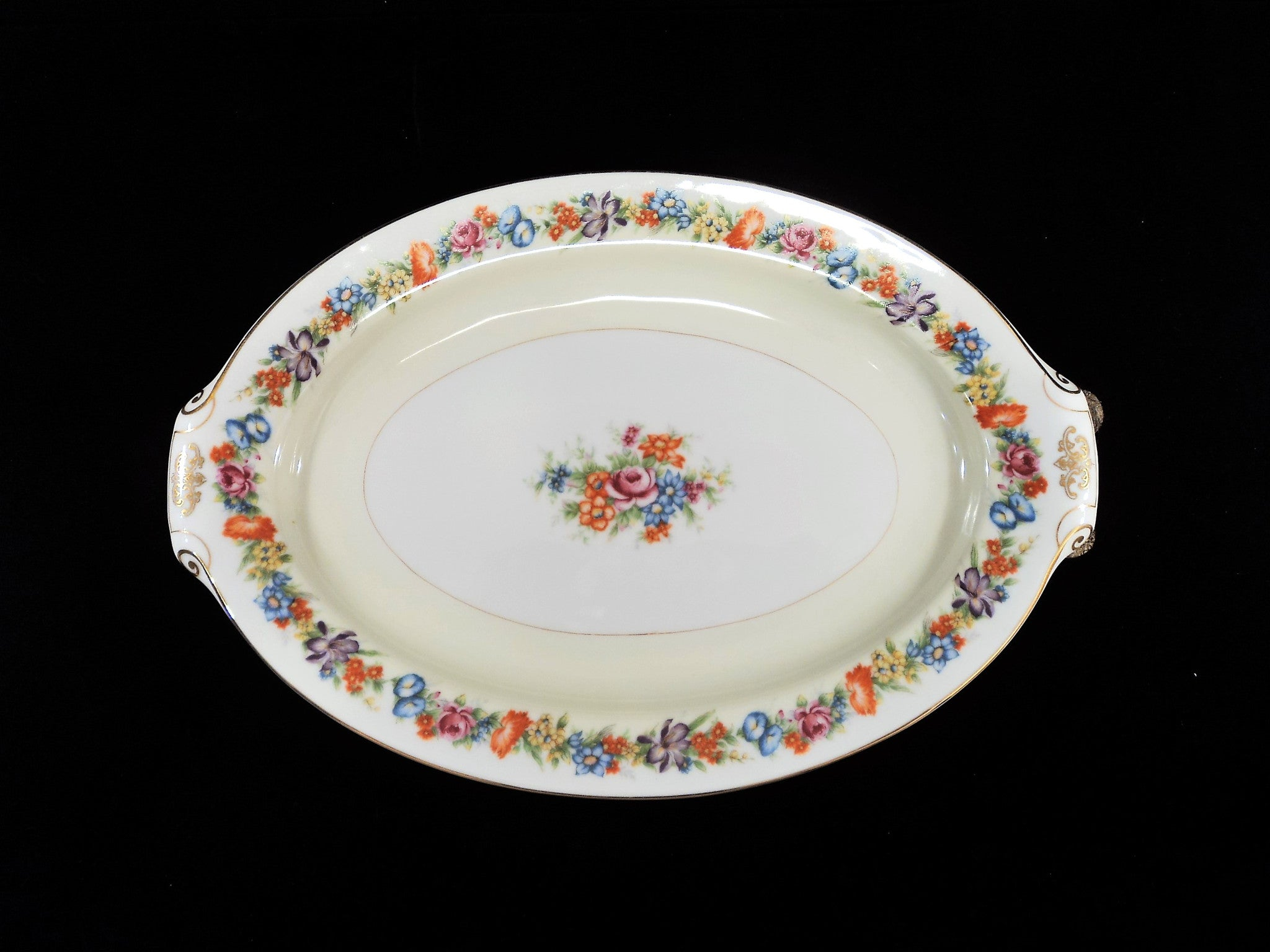 Narumi Porcelain Occupied Japan Oval Platter