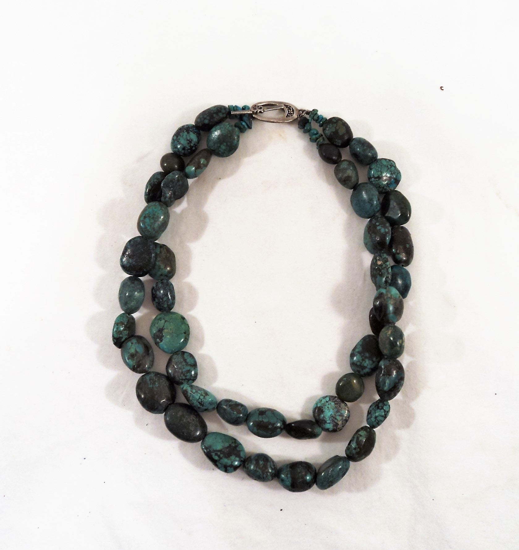 Double Strand Turquoise Bead Necklace